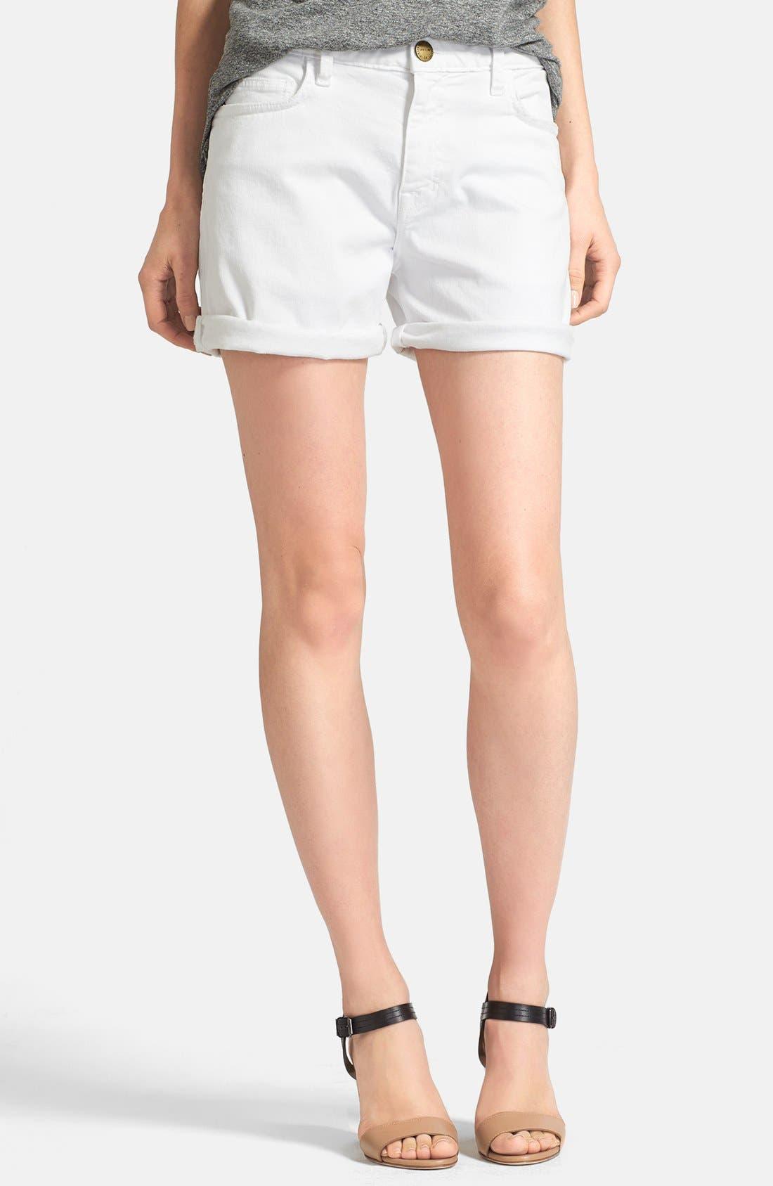 Main Image - Current/Elliott 'The Boyfriend' Rolled Shorts (Sugar)