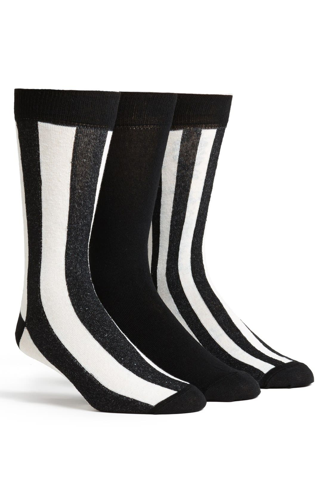 Alternate Image 1 Selected - Topman Stripe Socks (3-Pack)