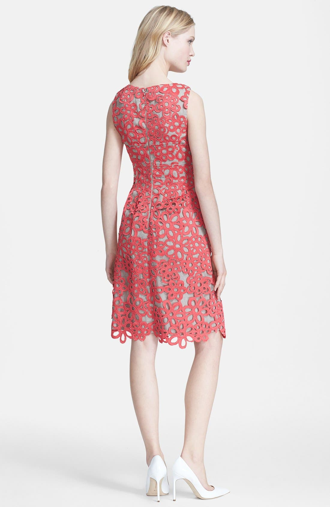 Alternate Image 2  - Lela Rose Embellished Lace & Linen Sheath Dress