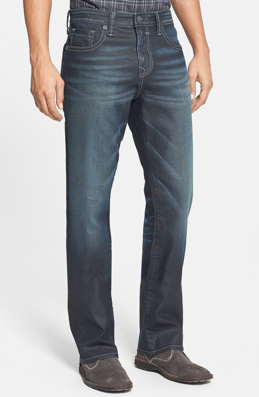 Main Image - Mavi Jeans 'Matt' Relaxed Straight Leg Jeans (Coated Utah)