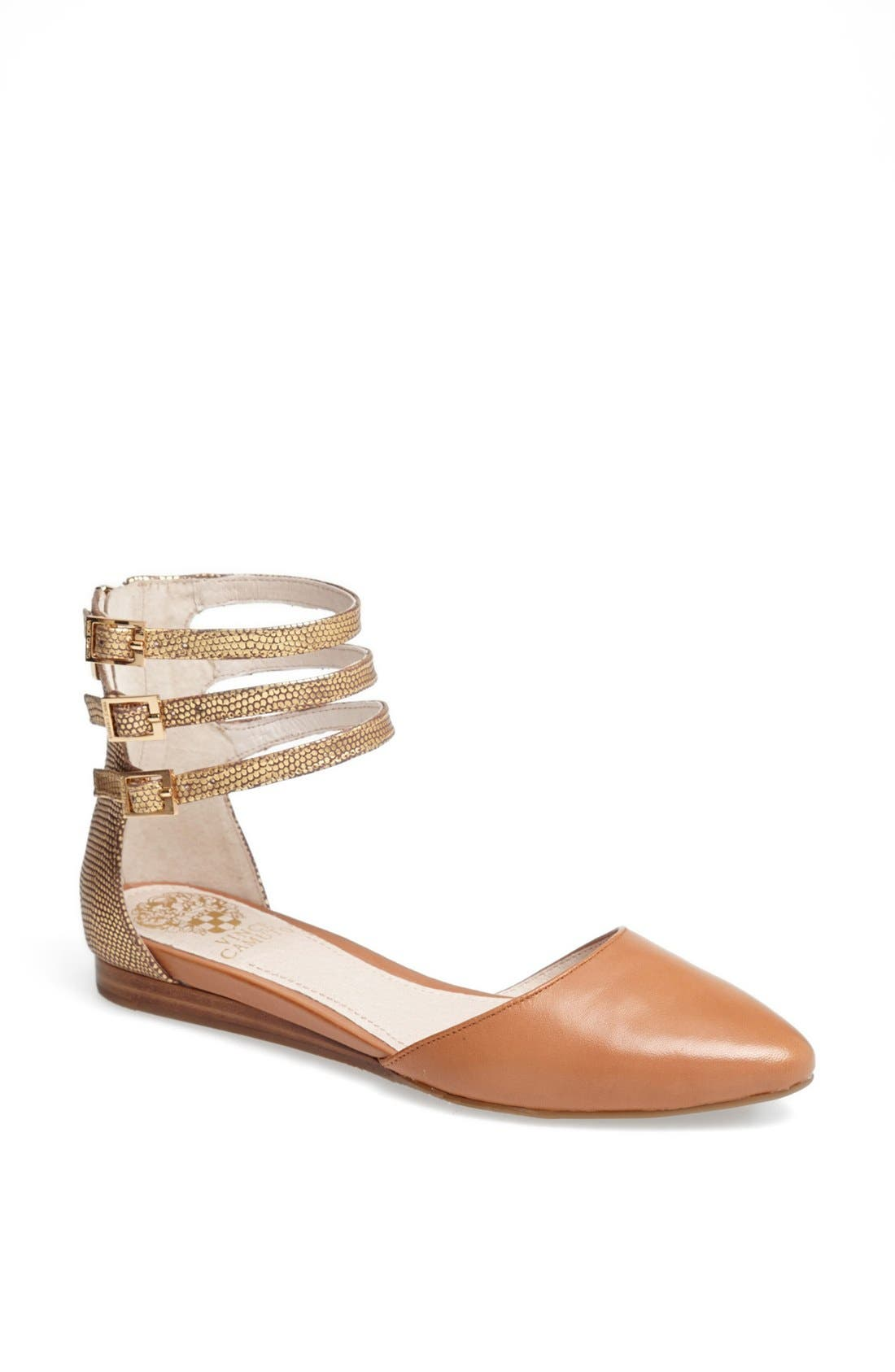 Alternate Image 1 Selected - Vince Camuto 'Wiji' Ankle Strap D'Orsay Flat
