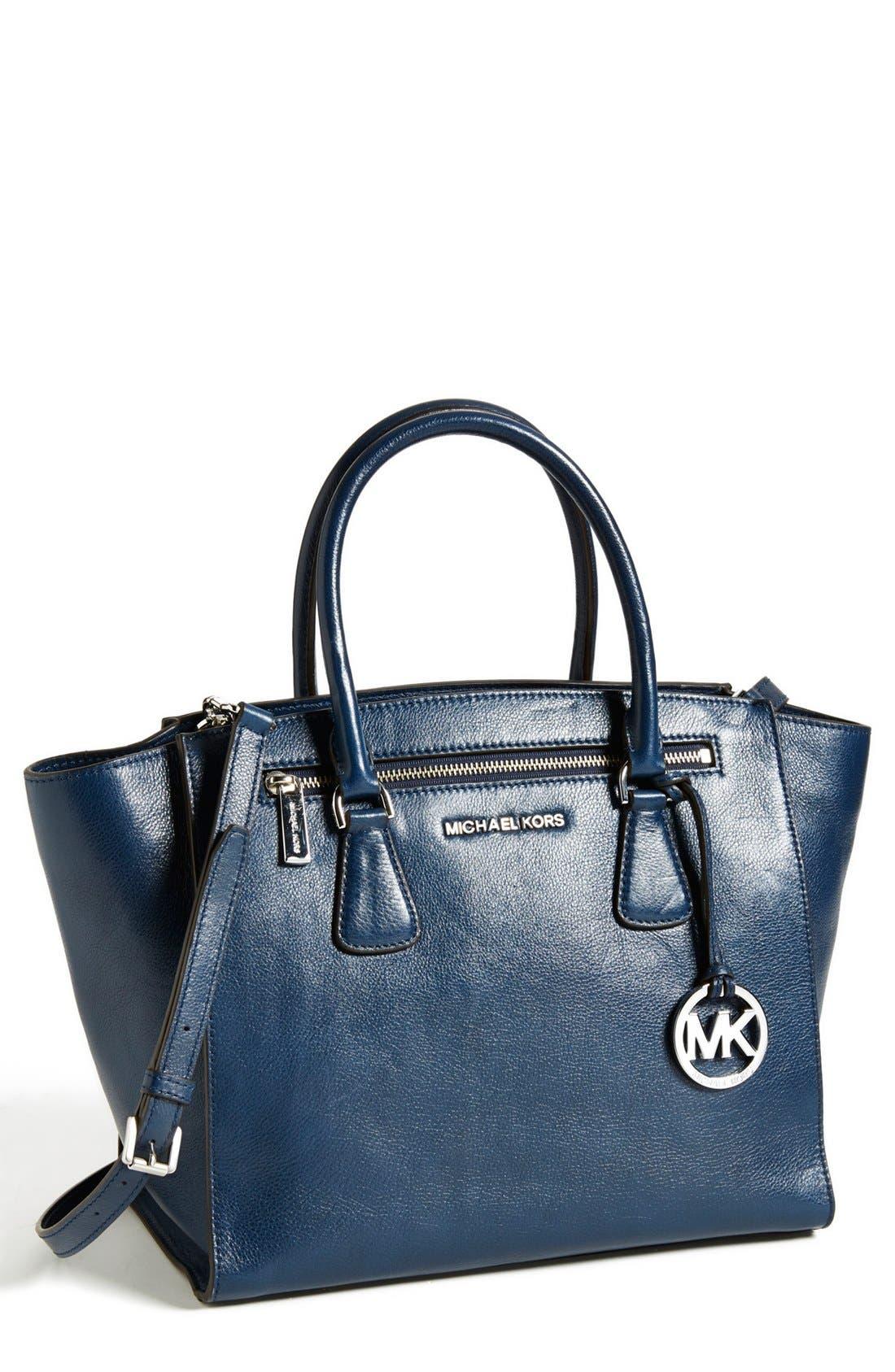 Main Image - MICHAEL Michael Kors 'Large' Leather Satchel