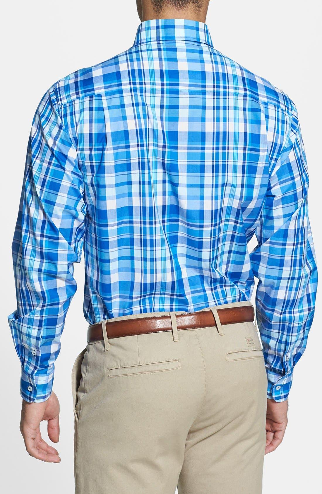 Alternate Image 2  - Paul & Shark Plaid Classic Fit Sport Shirt