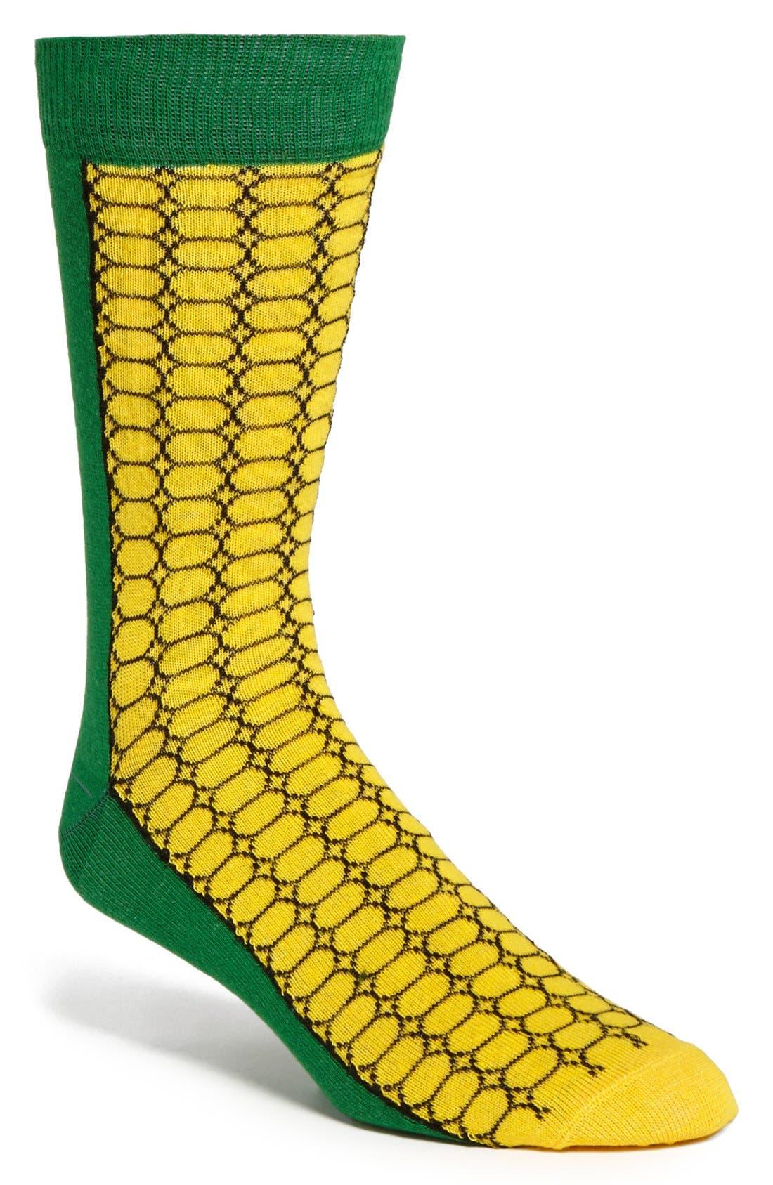 Main Image - Topman Corn Cob Pattern Socks