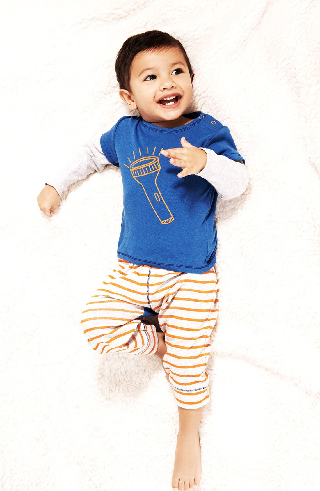 Alternate Image 2  - Stem Baby Graphic Cotton Top & Pants (Baby Boys)