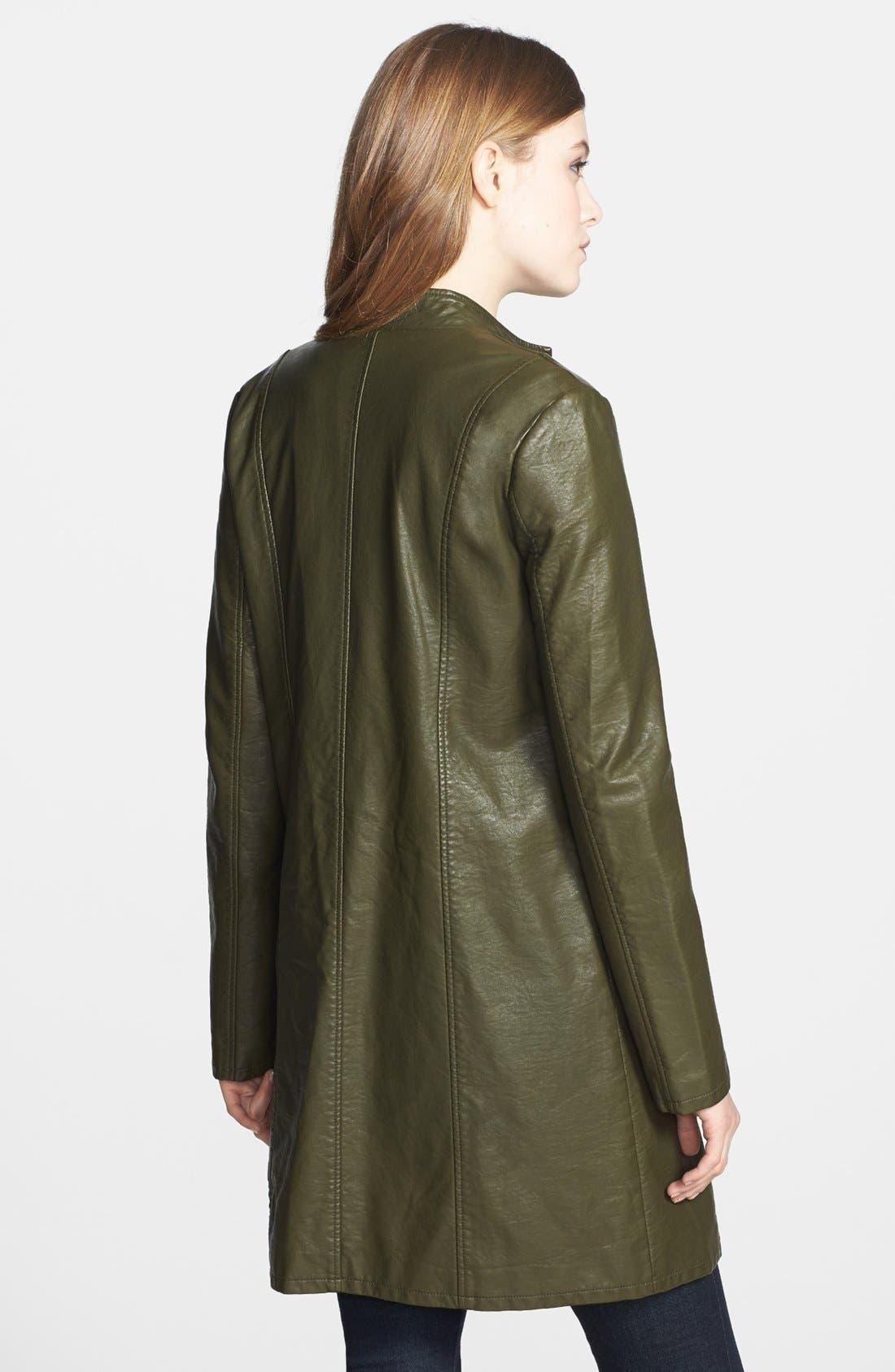 Alternate Image 2  - BB Dakota 'Eureka' Faux Leather Long Coat