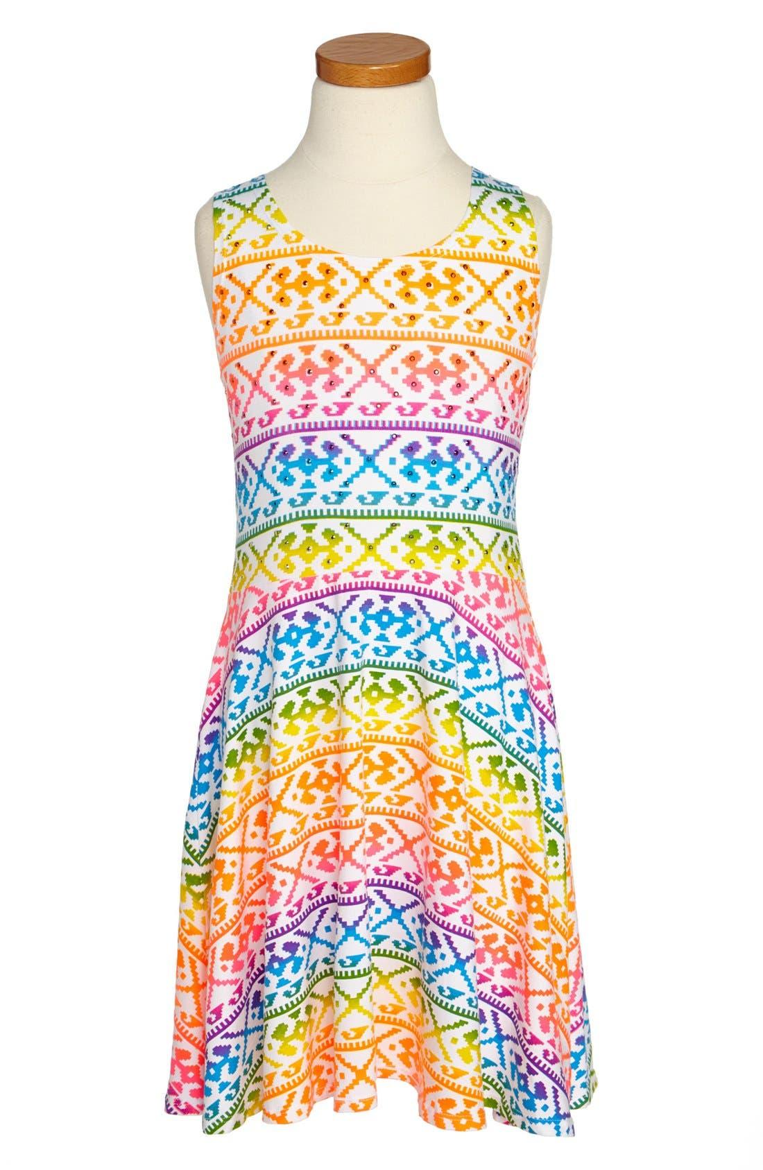 Alternate Image 1 Selected - Flowers by Zoe Print Dress (Little Girls)