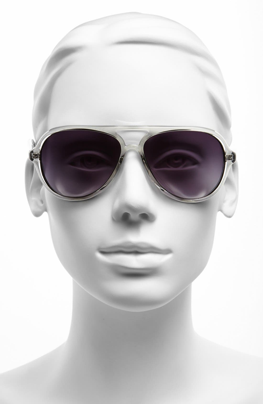 Alternate Image 2  - MICHAEL Michael Kors 57mm Aviator Sunglasses