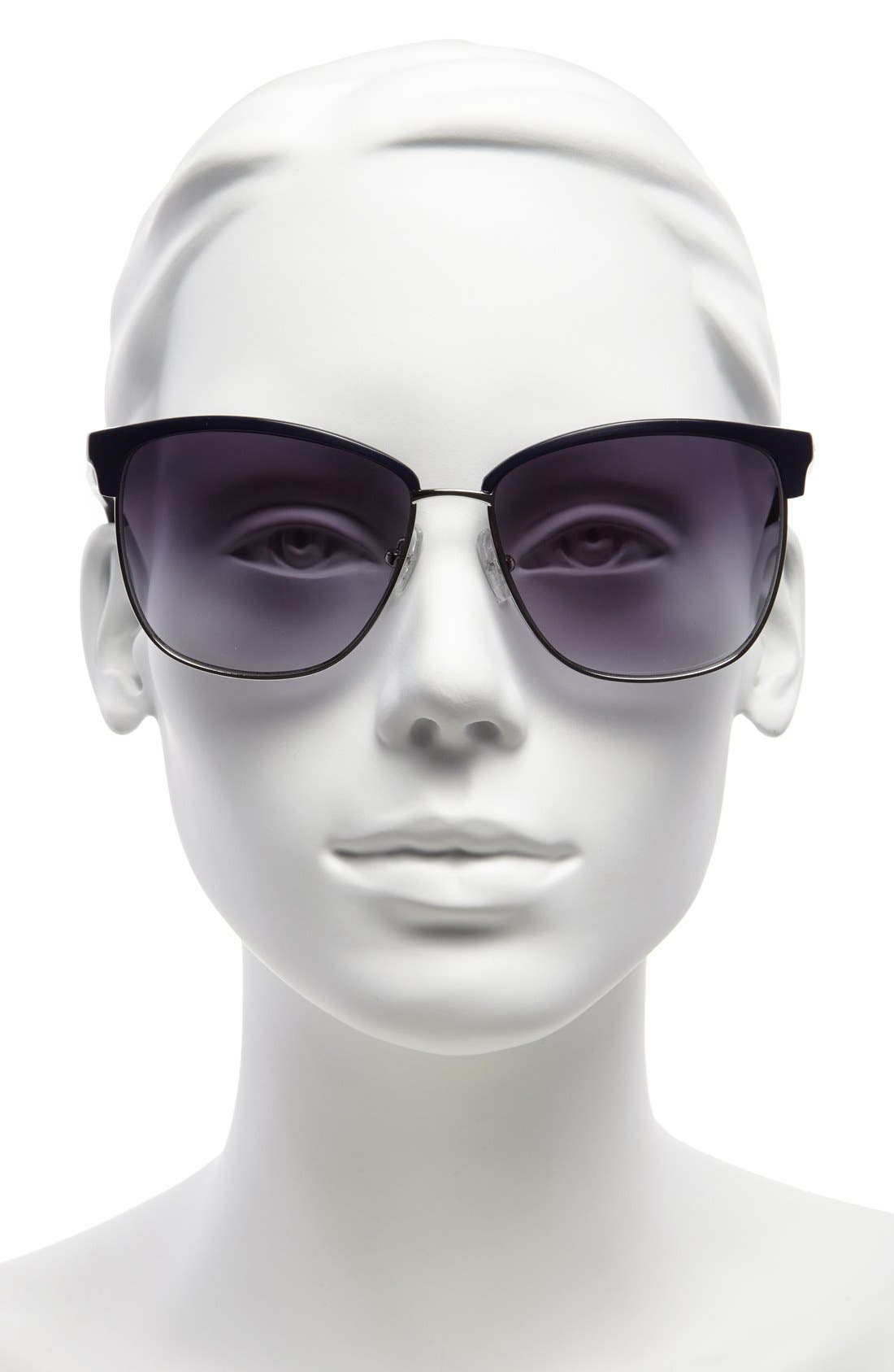 Alternate Image 2  - MICHAEL Michael Kors 'Griffin' 60mm Retro Sunglasses