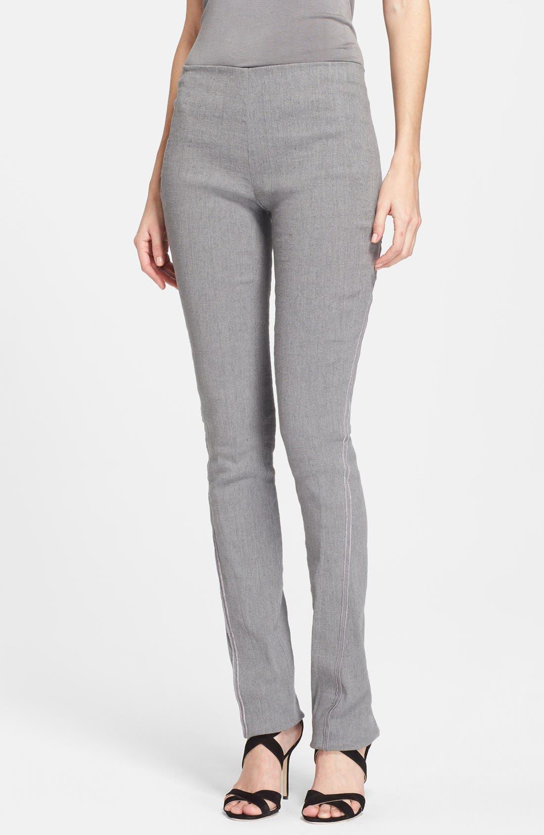 Alternate Image 1 Selected - Donna Karan New York Seamed Linen Blend Pants