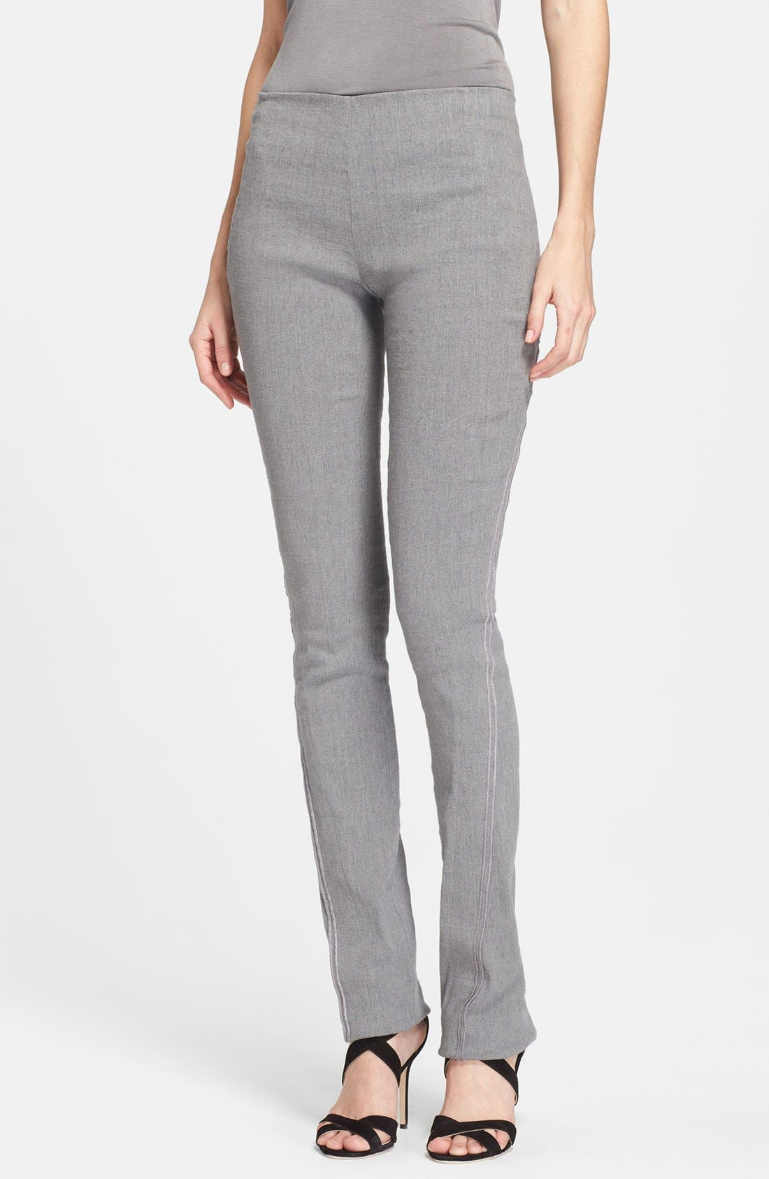 Main Image - Donna Karan New York Seamed Linen Blend Pants
