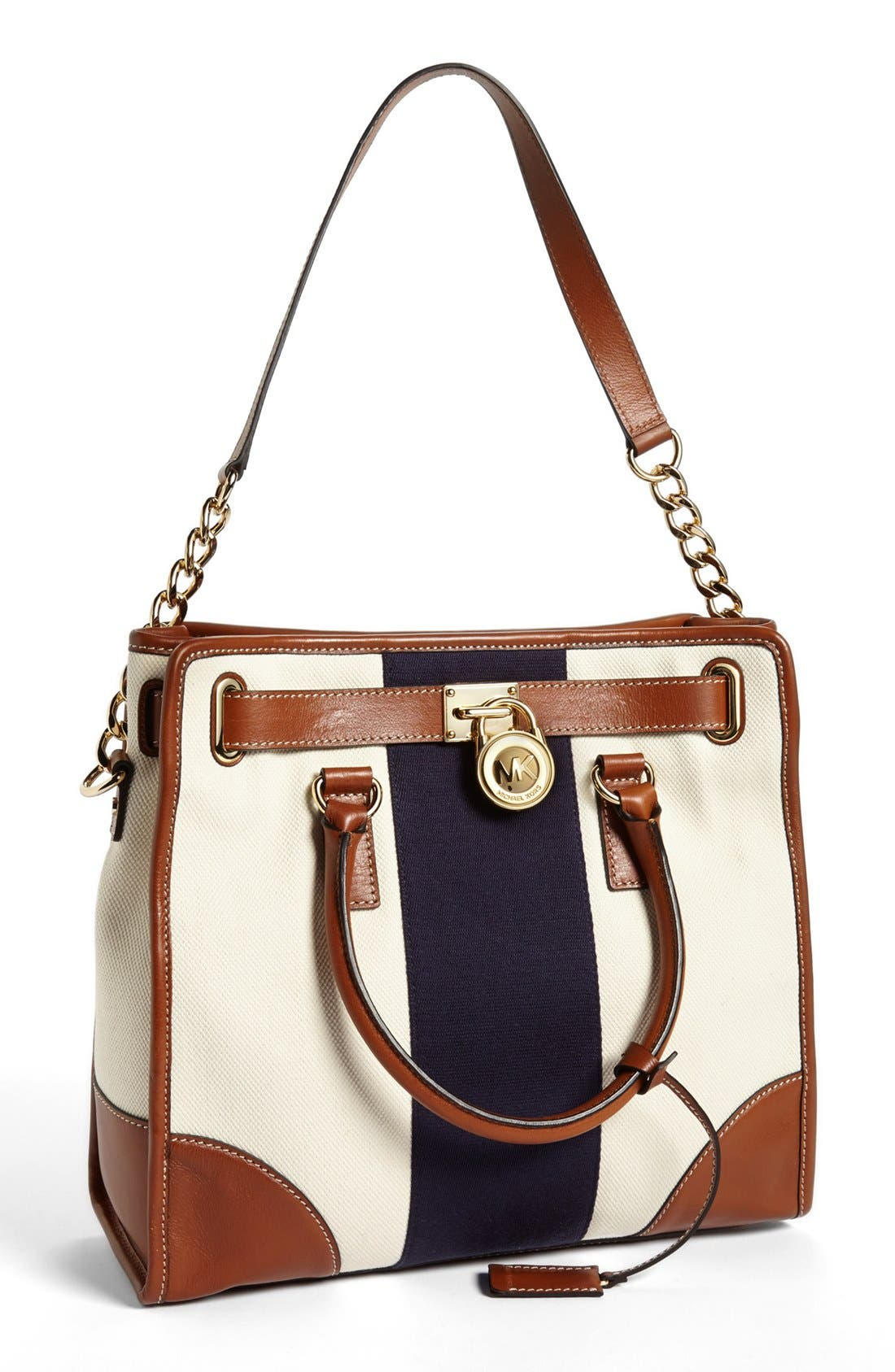Alternate Image 1 Selected - MICHAEL Michael Kors 'Large Hamilton' Canvas Tote