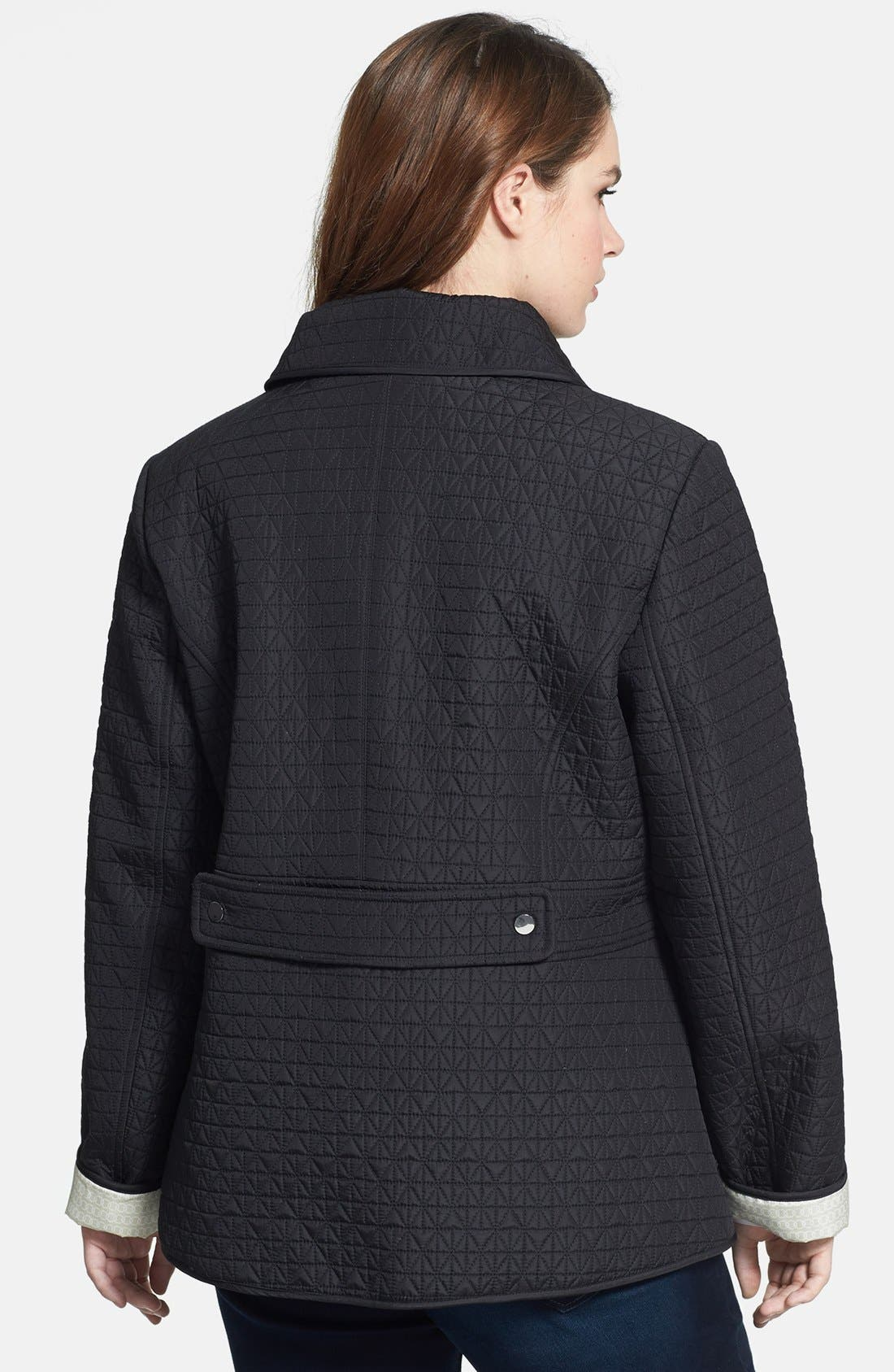 Alternate Image 2  - Gallery Turnkey Quilted Jacket (Plus Size)