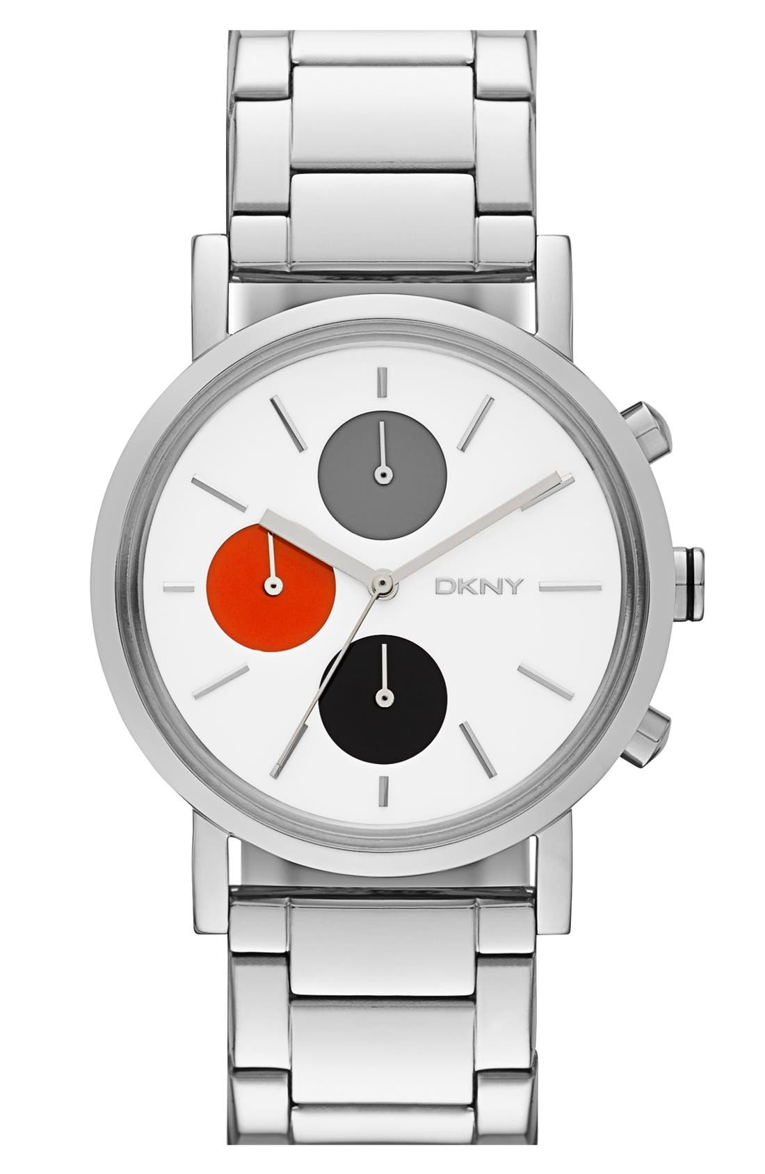 Main Image - DKNY 'Soho' Chronograph Bracelet Watch, 38mm