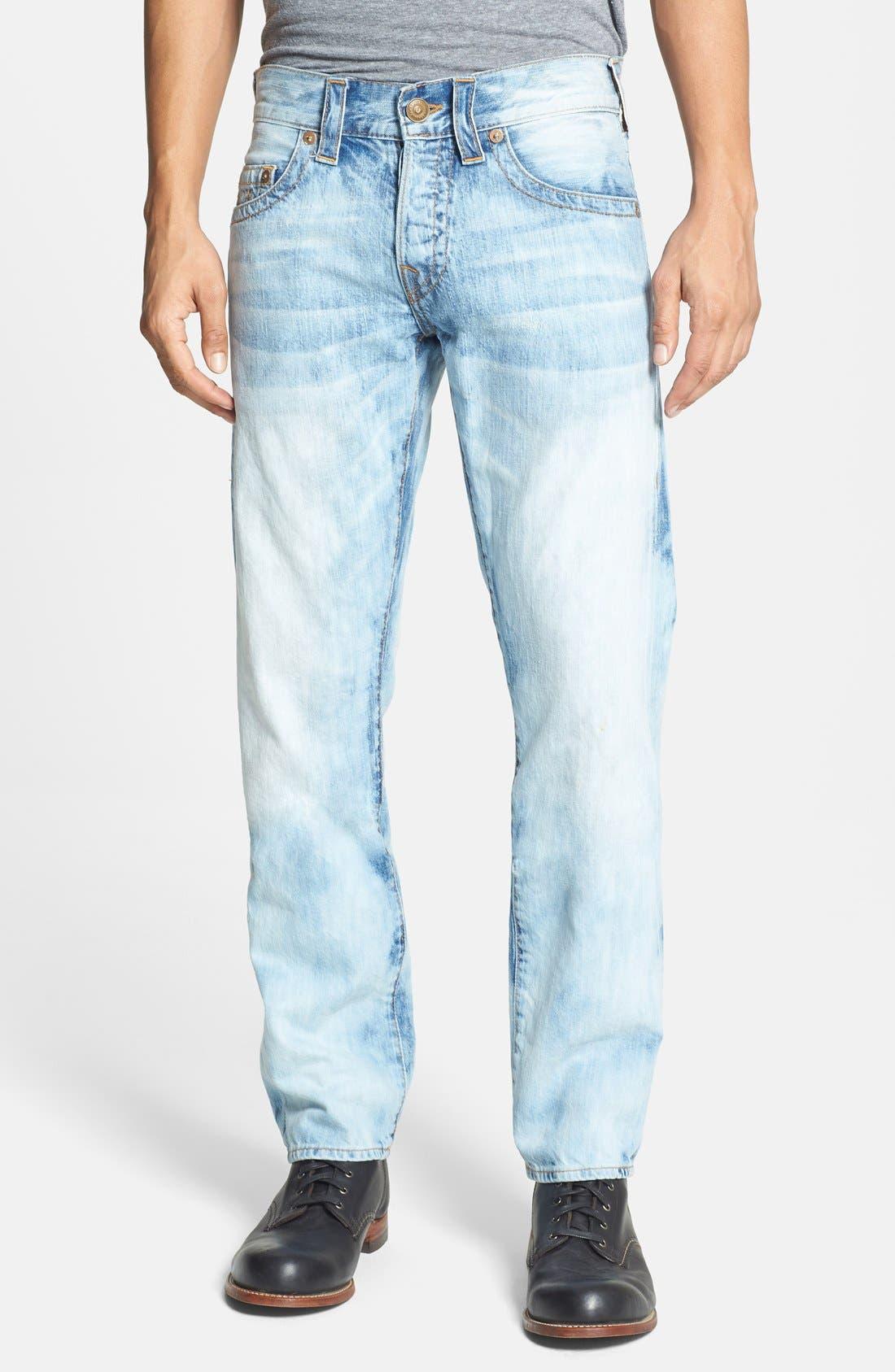 Alternate Image 2  - True Religion Brand Jeans 'Geno' Straight Leg Jeans (YLL Antelope)