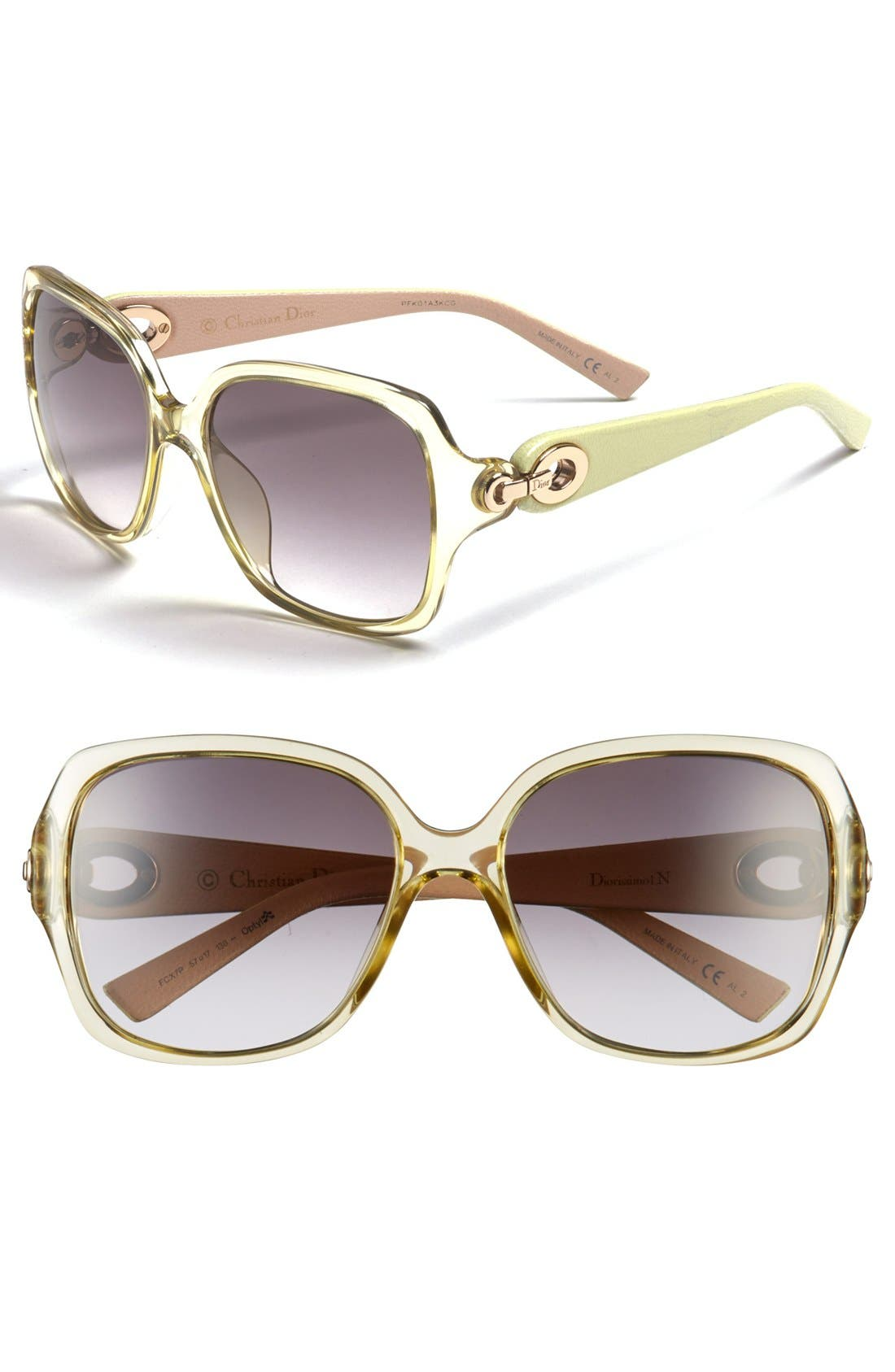 Alternate Image 1 Selected - Christian Dior 57mm Sunglasses