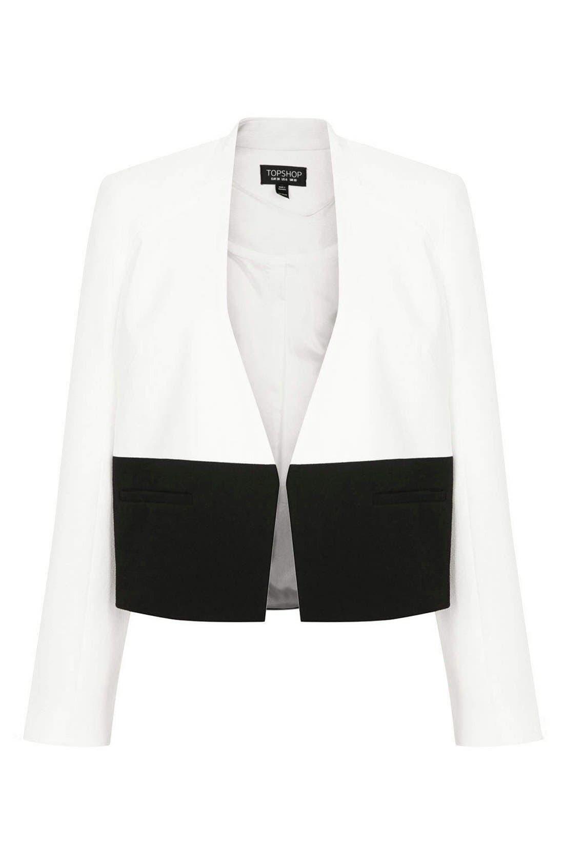 Alternate Image 3  - Topshop 'Carrie' Colorblock Jacket