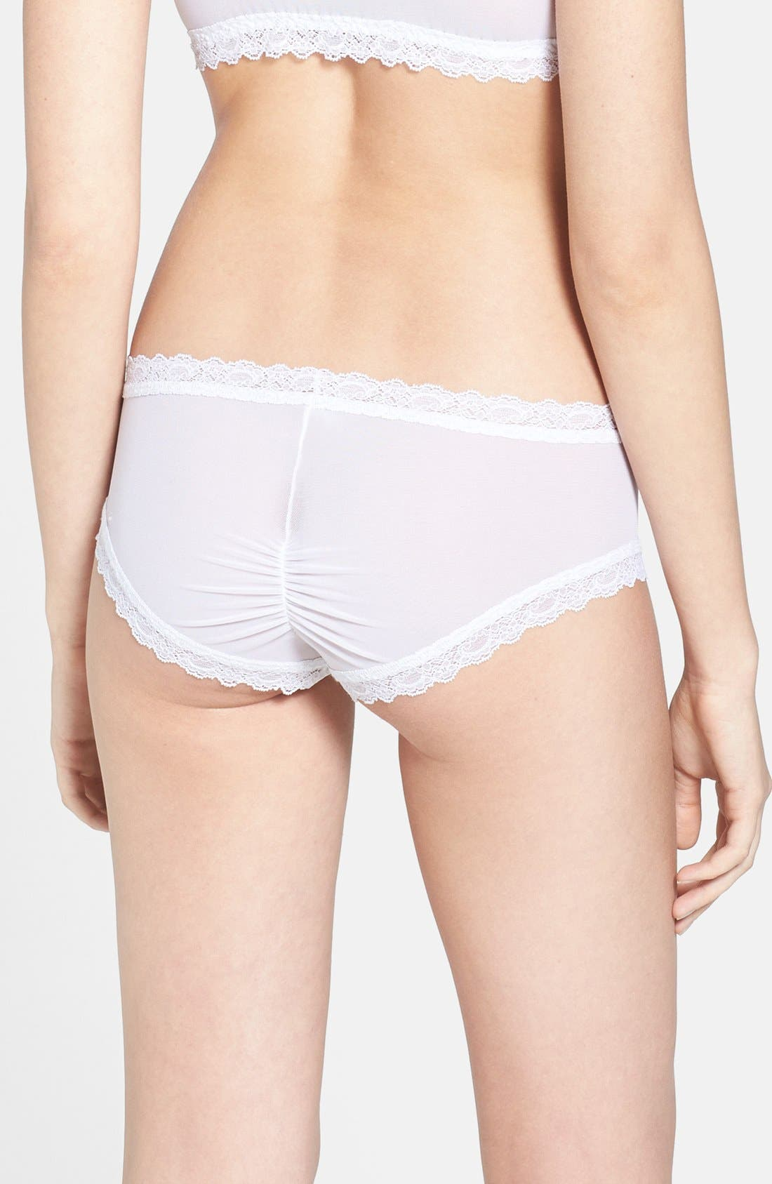 Alternate Image 2  - Hanky Panky 'Madeline' Shirred Cheeky Hipster Briefs