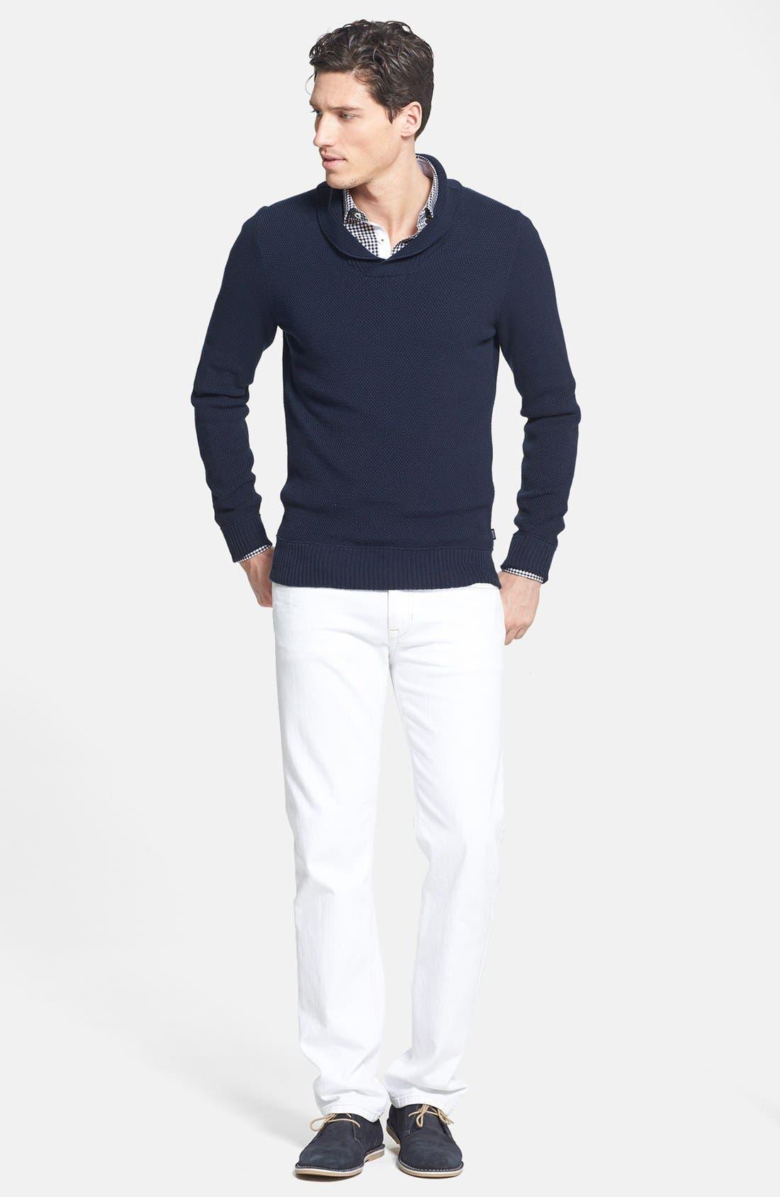 Alternate Image 4  - BOSS HUGO BOSS 'Pivot' Slim Fit Shawl Collar Sweater