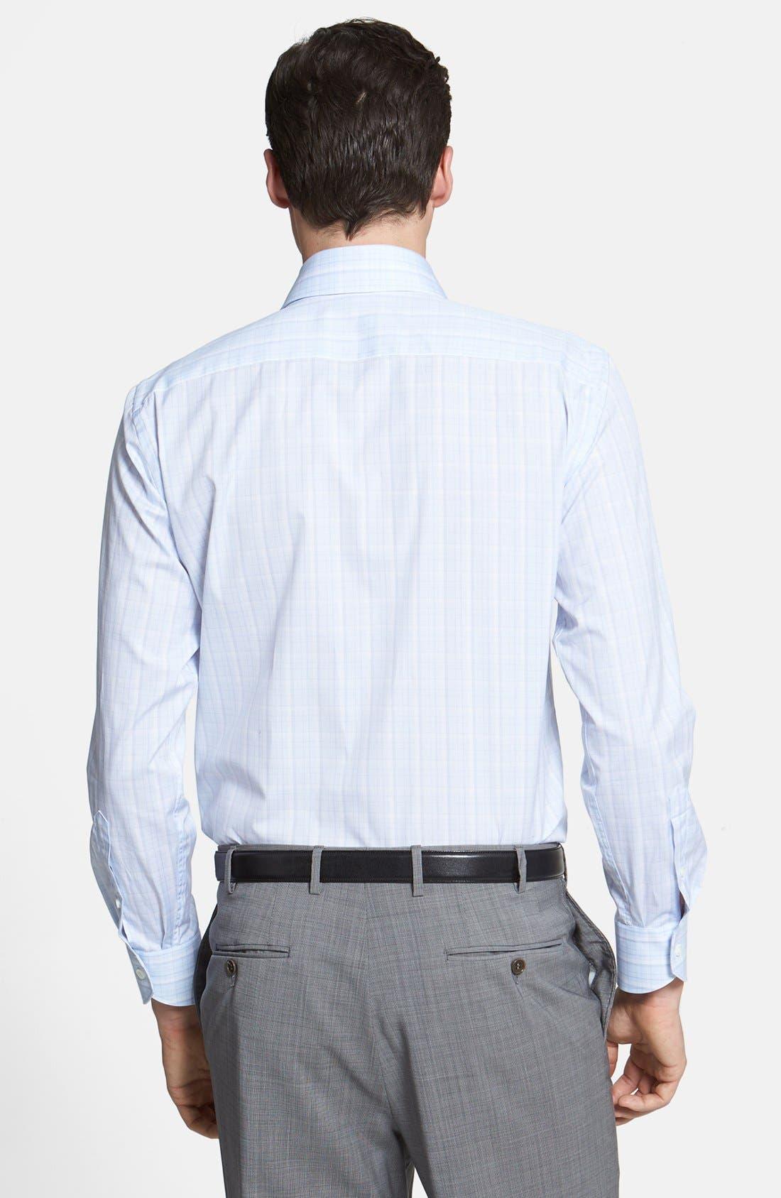 Alternate Image 4  - Canali Poplin Graph Check Regular Fit Dress Shirt