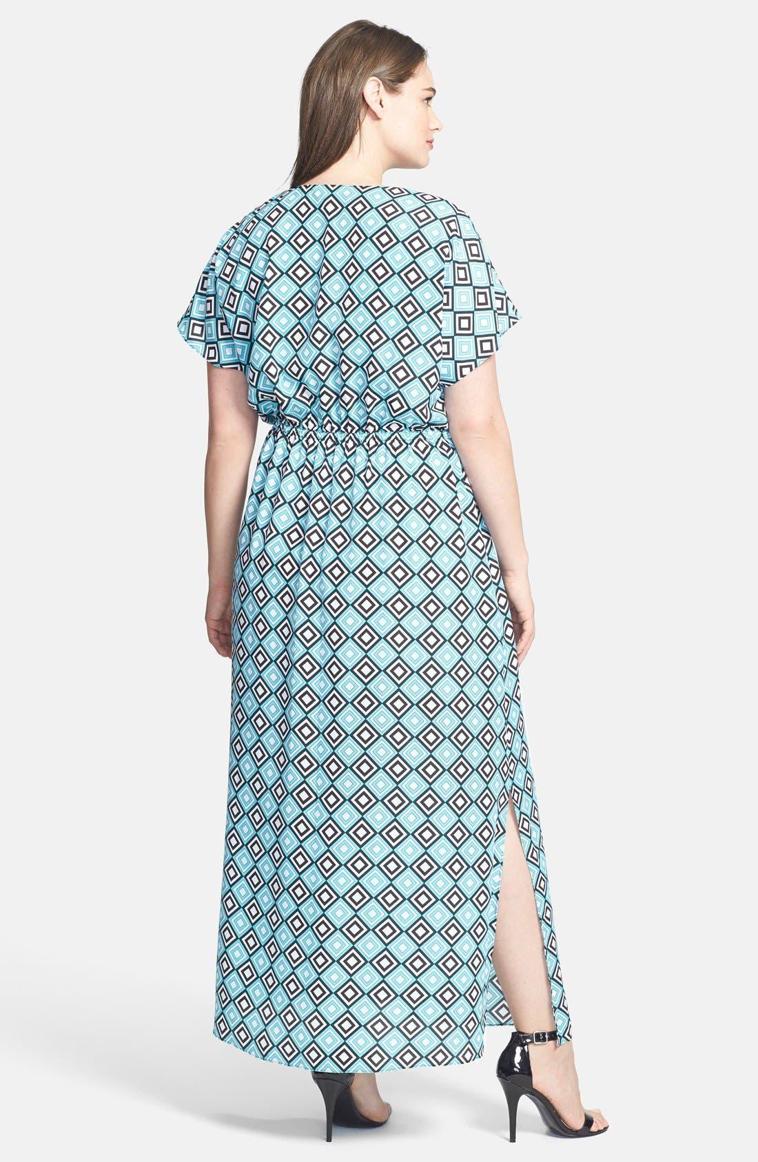 Alternate Image 2  - MICHAEL Michael Kors Diamond Print Maxi Dress (Plus Size)