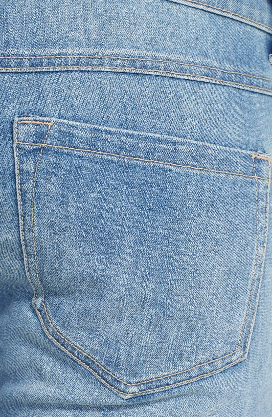 Alternate Image 3  - Free People 'Bali' Patchwork Flare Leg Jeans (Indigo Combo)