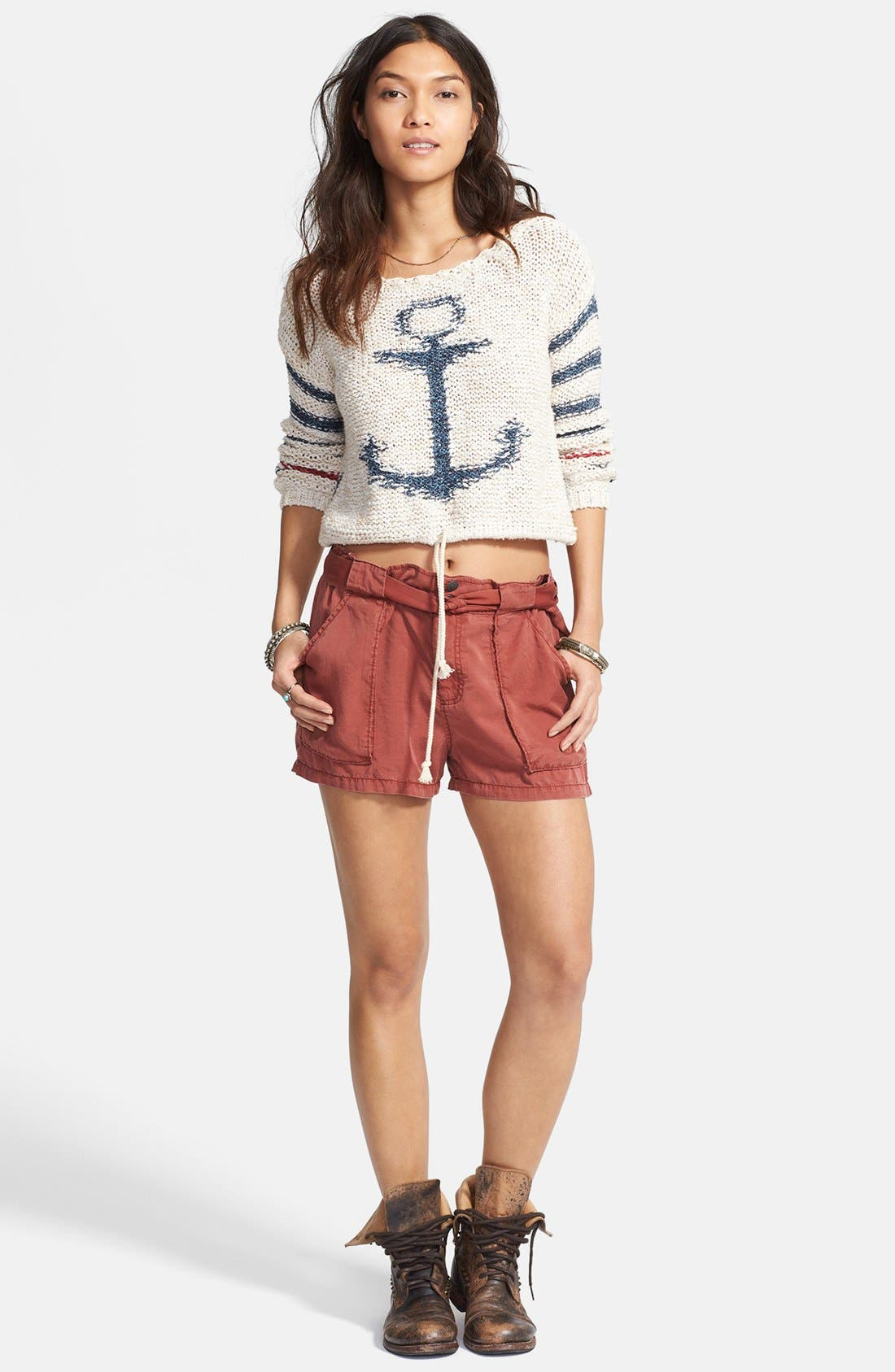 Alternate Image 1 Selected - Free People 'Sailor Song' Stripe Pullover