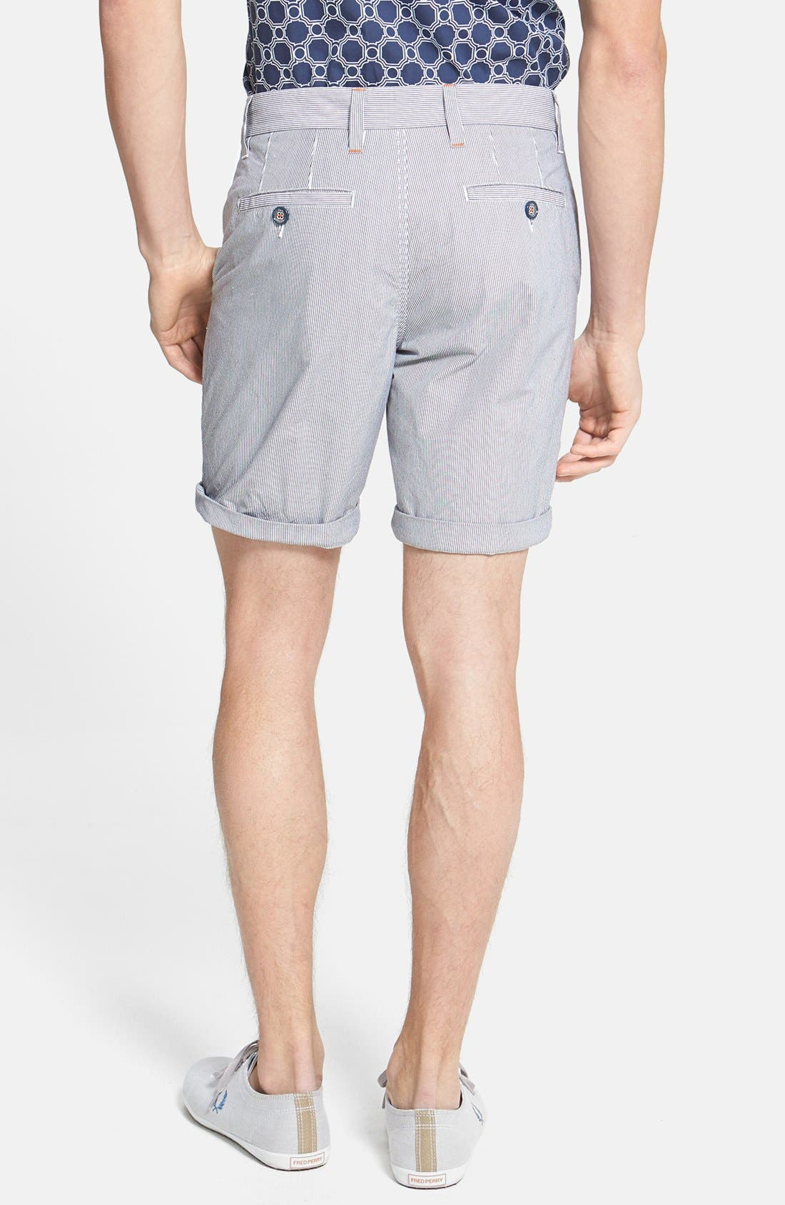 Alternate Image 2  - Ted Baker London 'Staddle' Slim Fit Stripe Shorts
