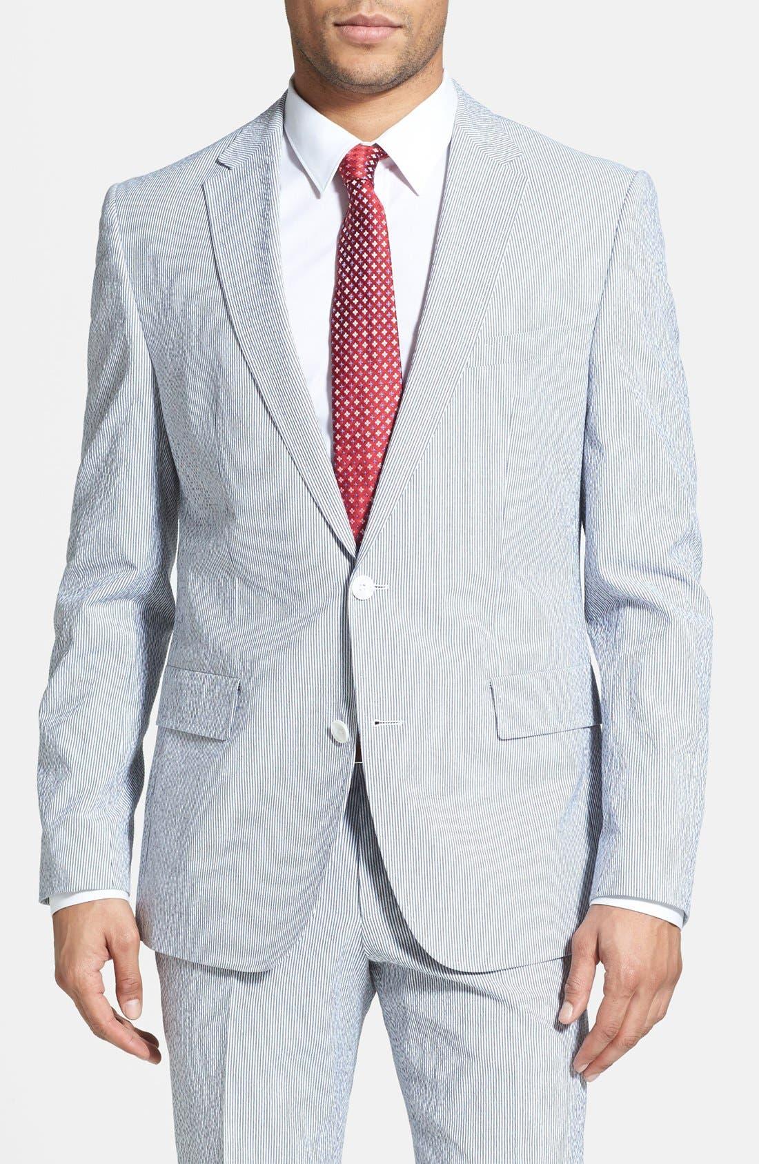 Alternate Image 3  - BOSS HUGO BOSS 'Nestor/Knox' Trim Fit Stretch Cotton Suit