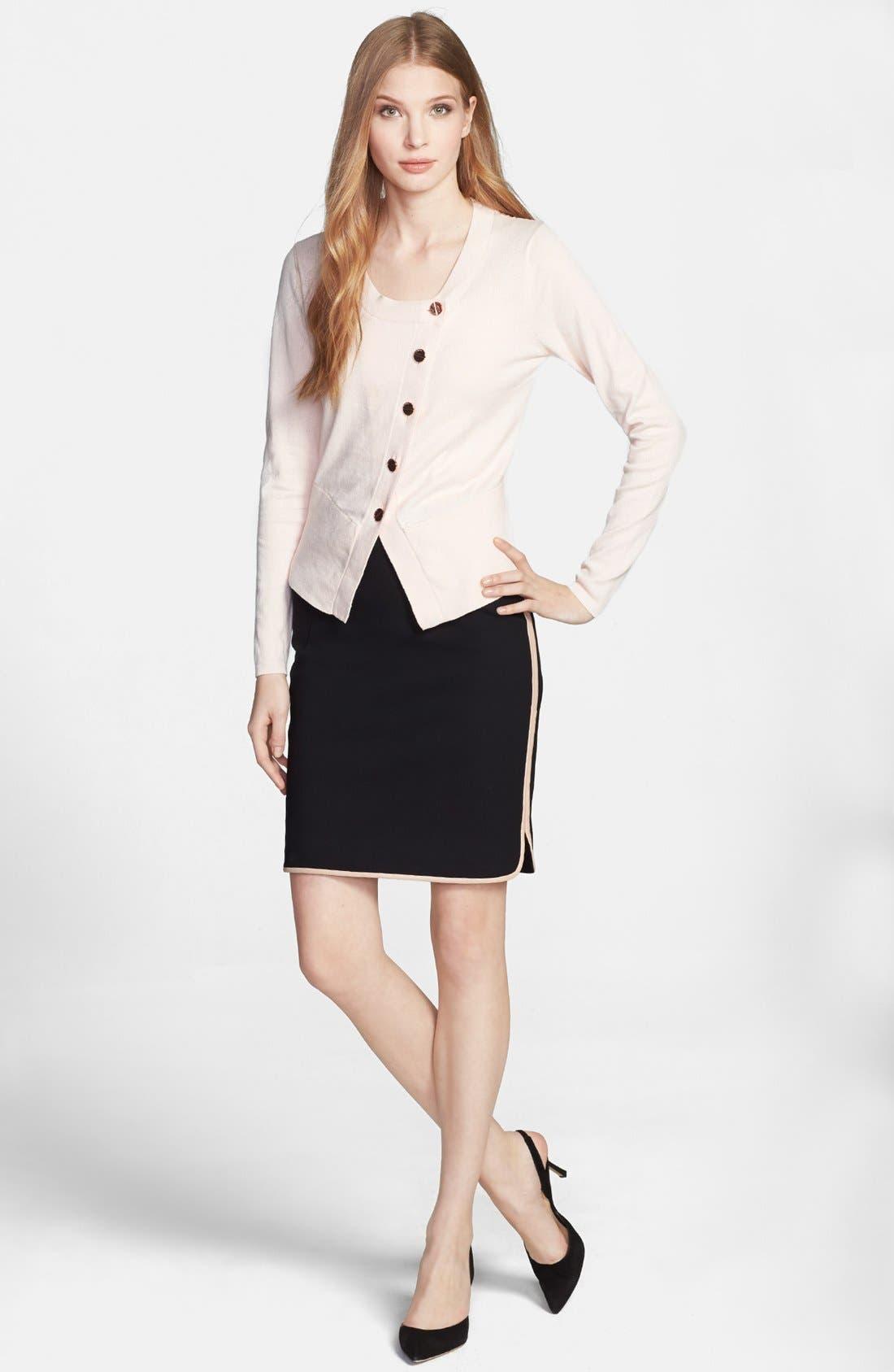 Alternate Image 4  - Ted Baker London Leather Trim Pencil Skirt