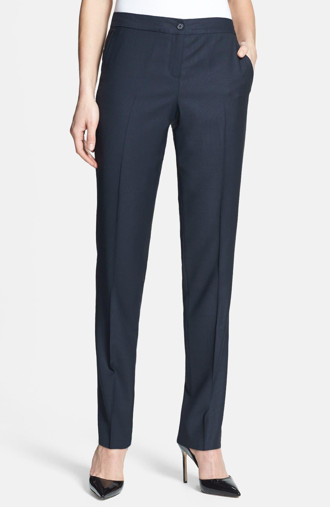 Alternate Image 1 Selected - Santorelli Slim Leg Wool Pants