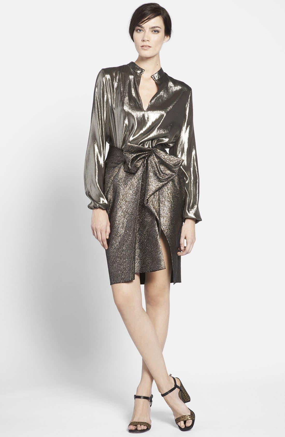 Alternate Image 3  - Lanvin Front Bow Taffeta Skirt