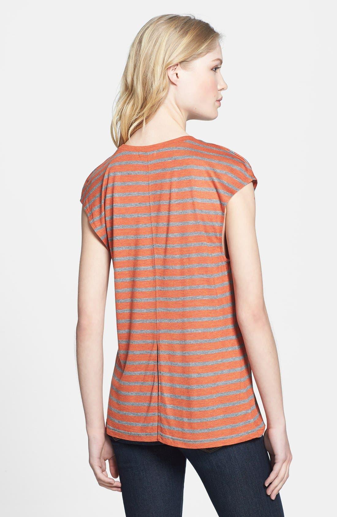 Alternate Image 2  - Hinge® Split Back Stripe Tee