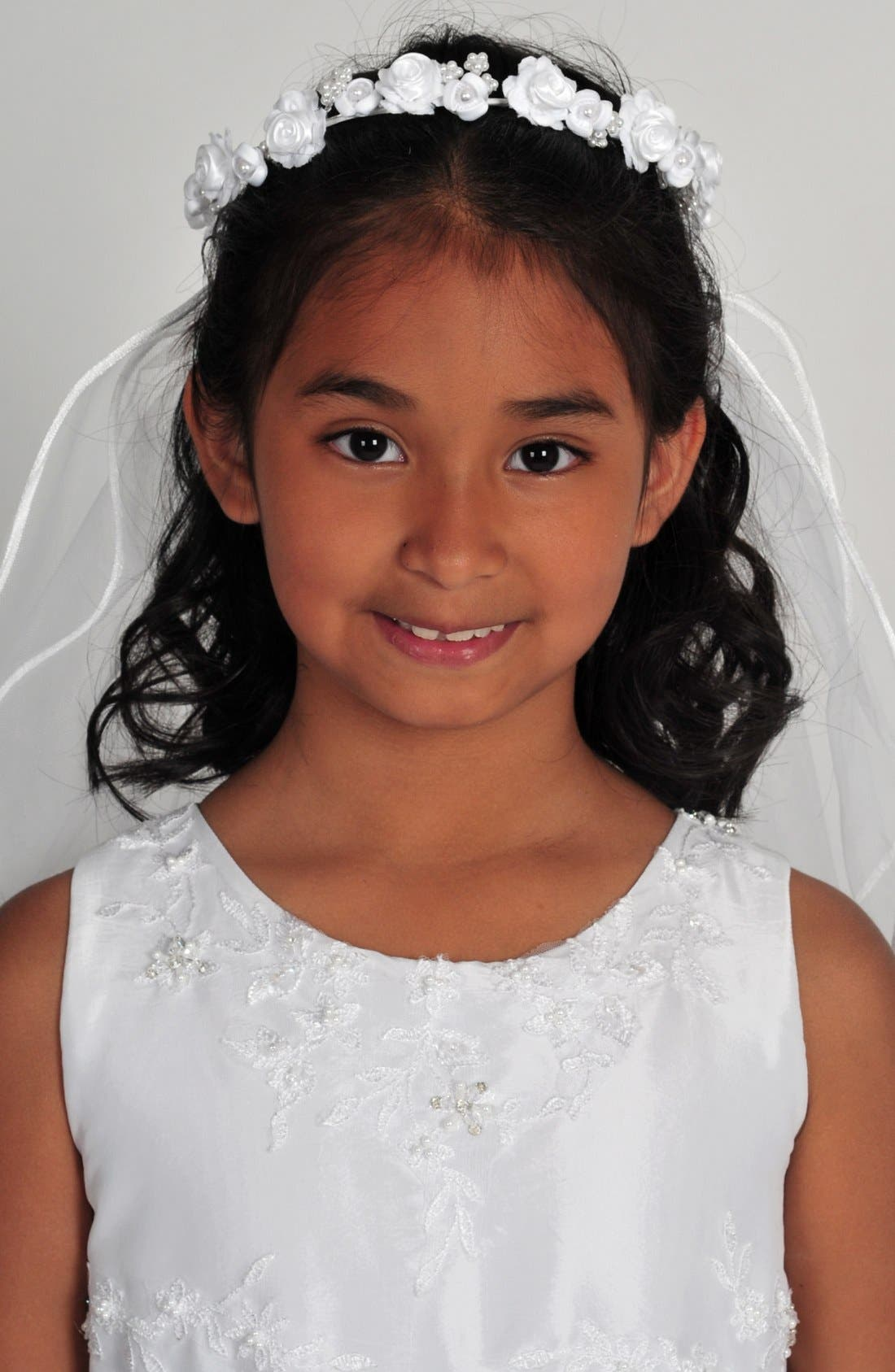 Alternate Image 2  - Lauren Marie First Communion Wreath Veil
