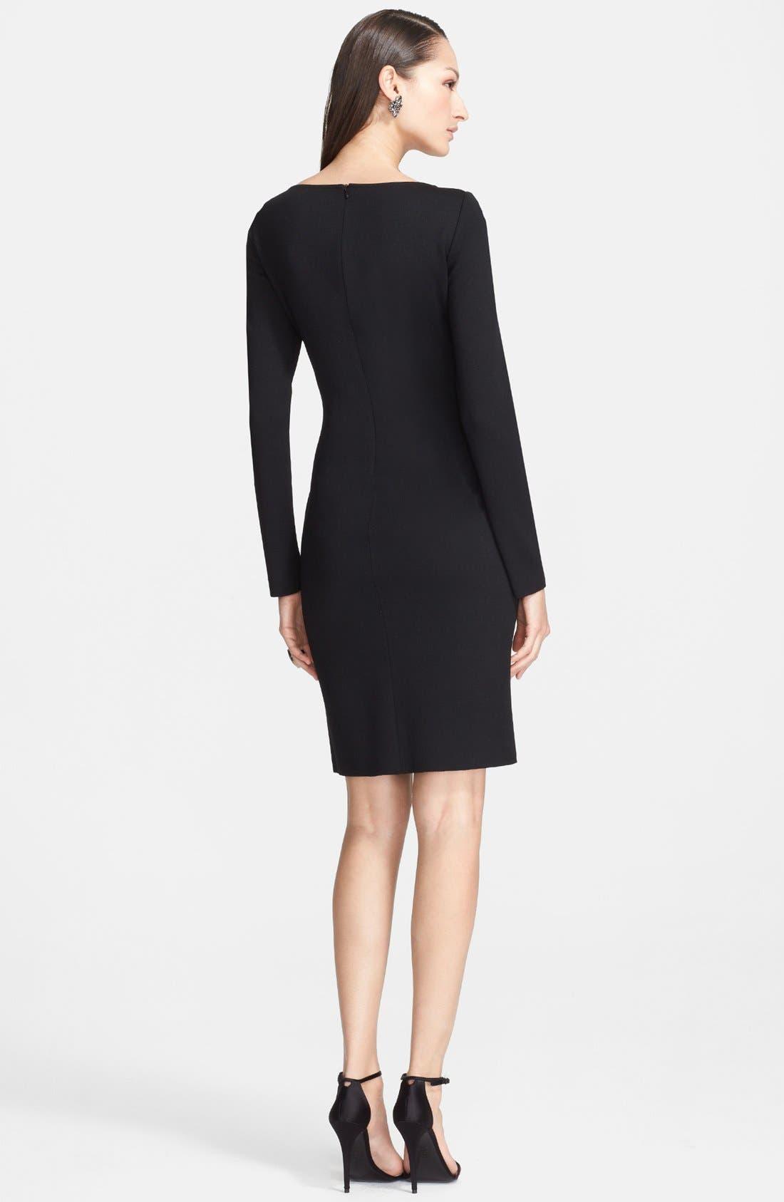 Alternate Image 2  - St. John Collection Bateau Neck Drape Front Milano Knit Dress