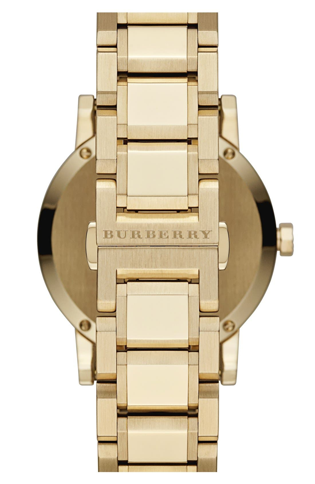 Alternate Image 2  - Burberry Check Stamped Chronograph Bracelet Watch, 38mm