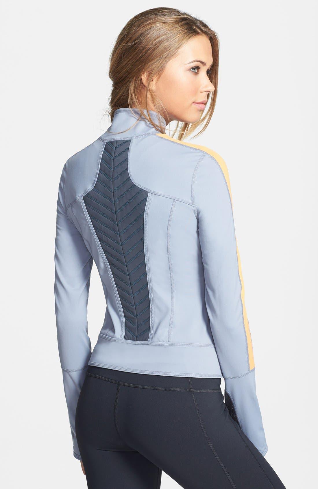 Alternate Image 2  - Zella Colorblock Moto Jacket