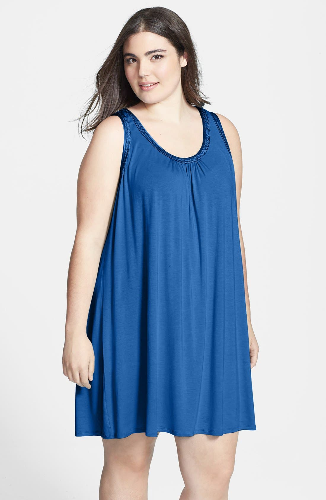 Alternate Image 1 Selected - Midnight by Carole Hochman 'Magic Moment' Chemise (Plus Size)