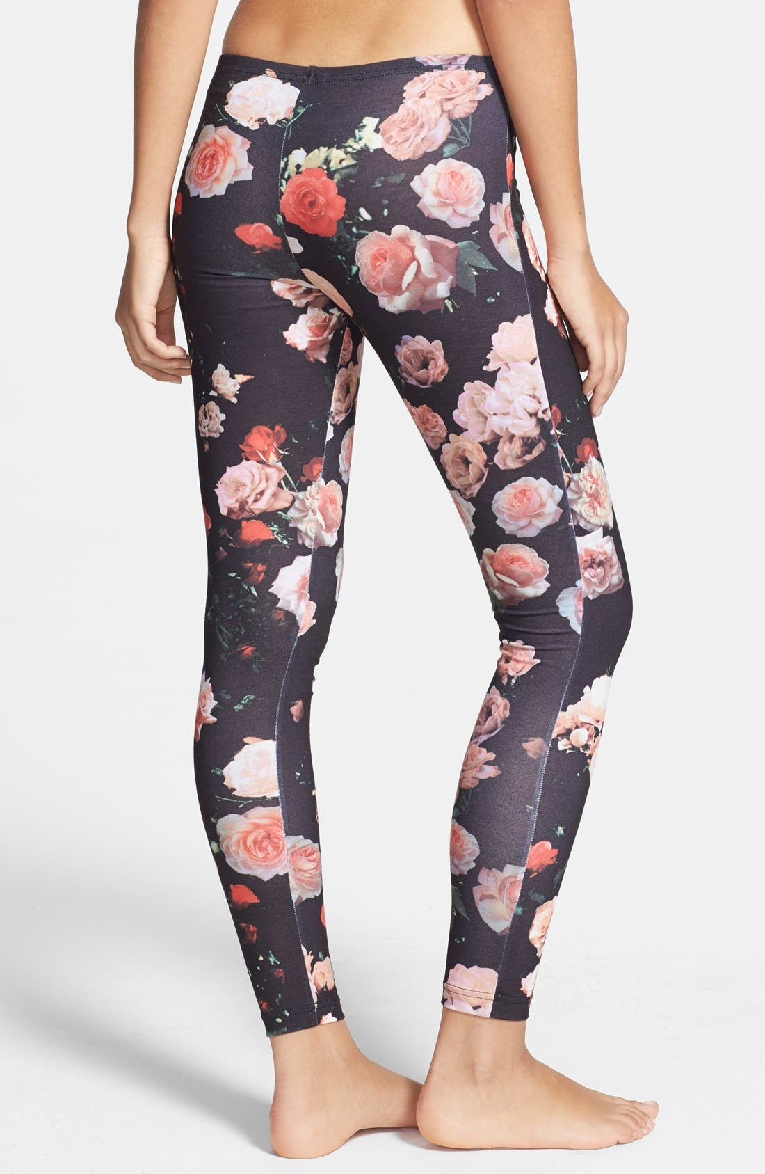 Alternate Image 2  - adidas Originals Trefoil Rose Leggings