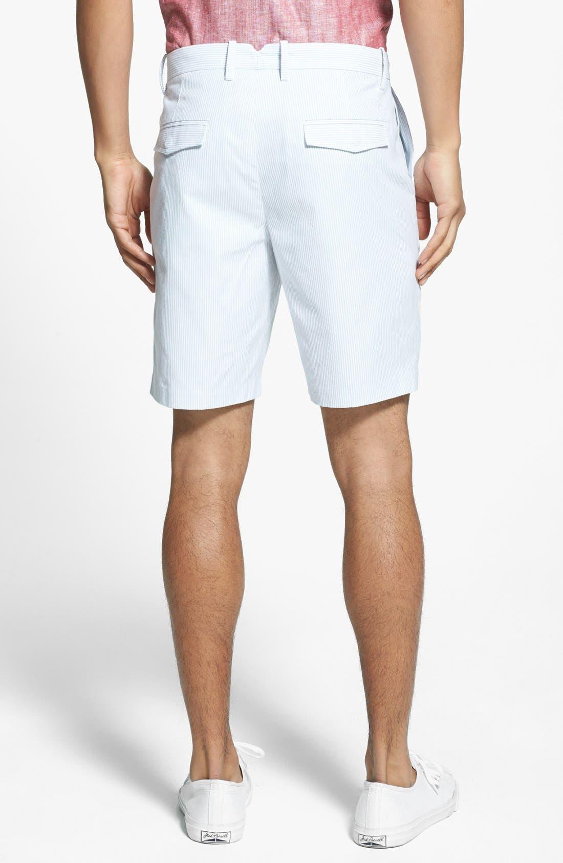 Alternate Image 2  - Original Penguin Tailored Stripe Trouser Shorts