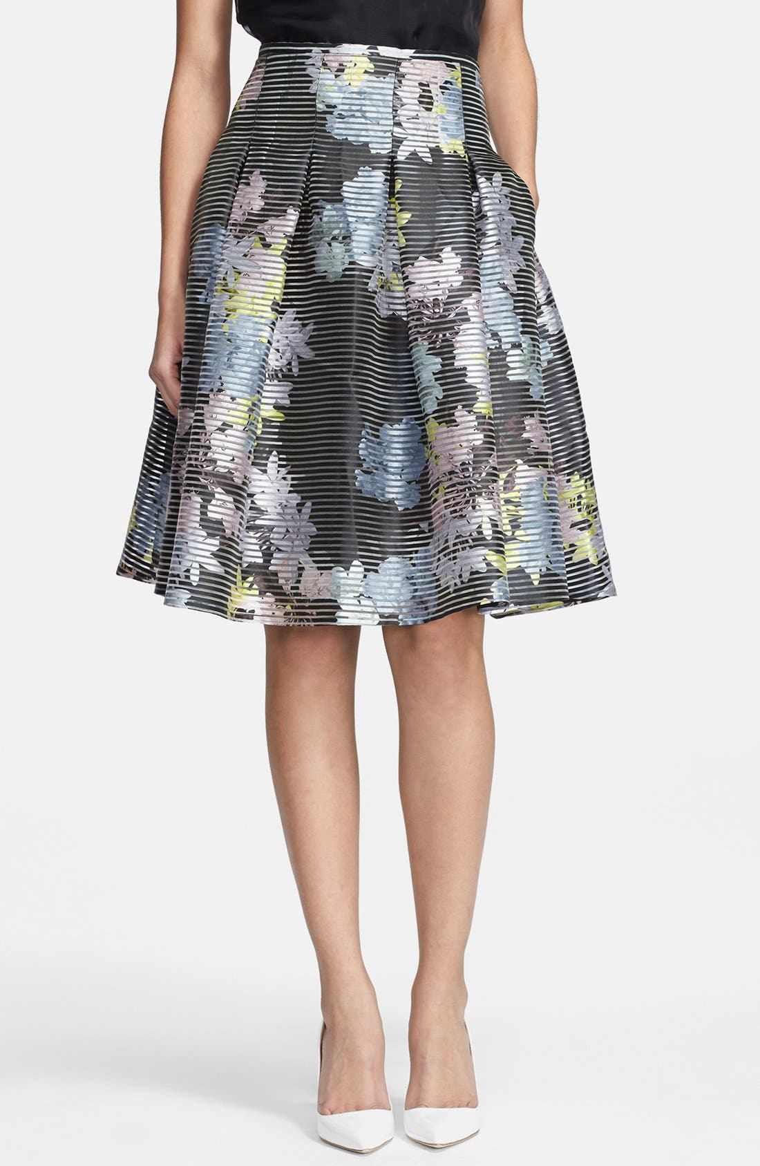Alternate Image 1 Selected - Erdem Print A-line Organza Skirt