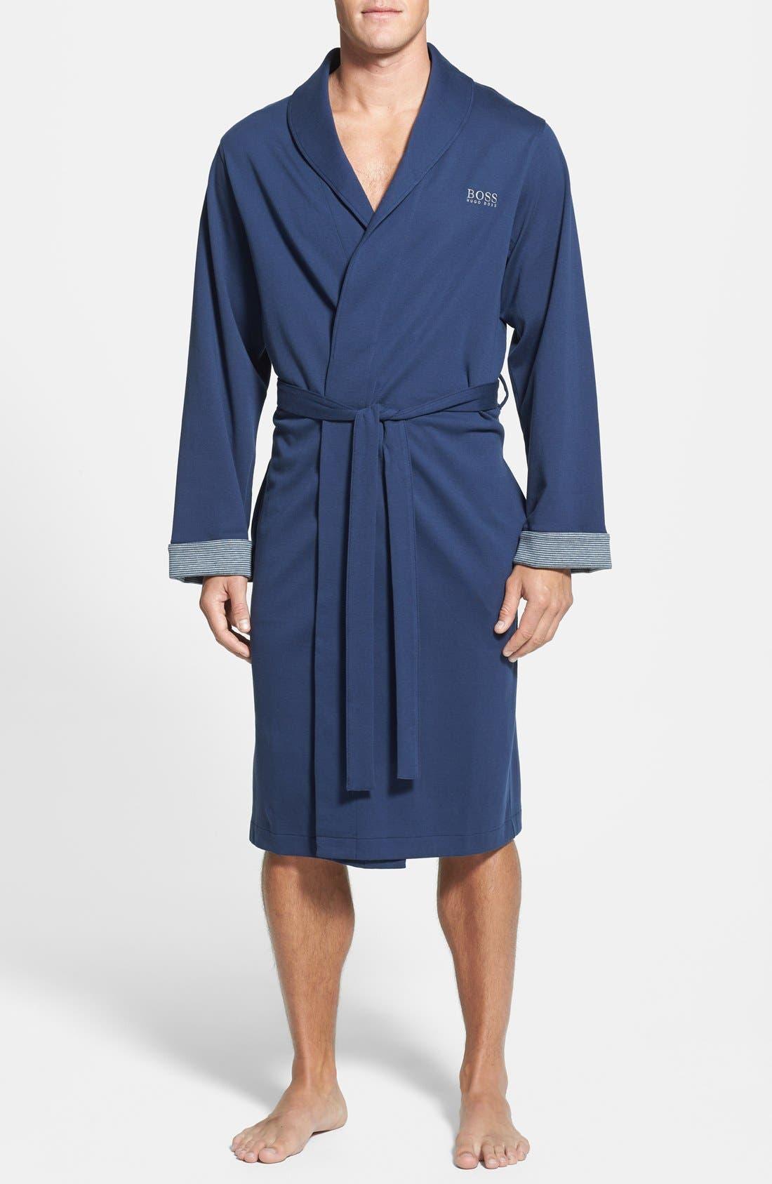 Alternate Image 1 Selected - BOSS HUGO BOSS Cotton Blend Robe