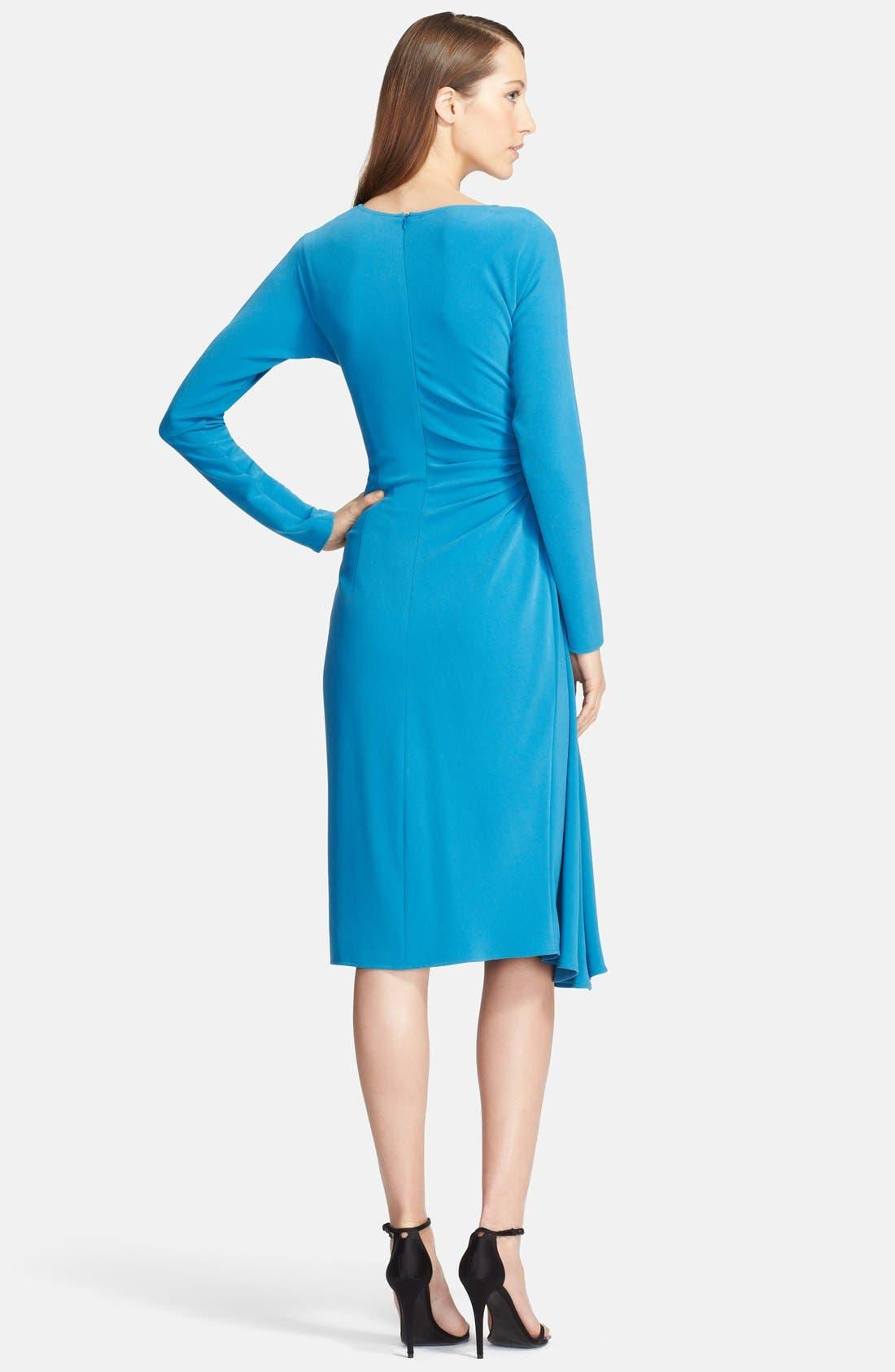 Alternate Image 2  - St. John Collection Asymmetrical Drape Luxe Crepe Dress