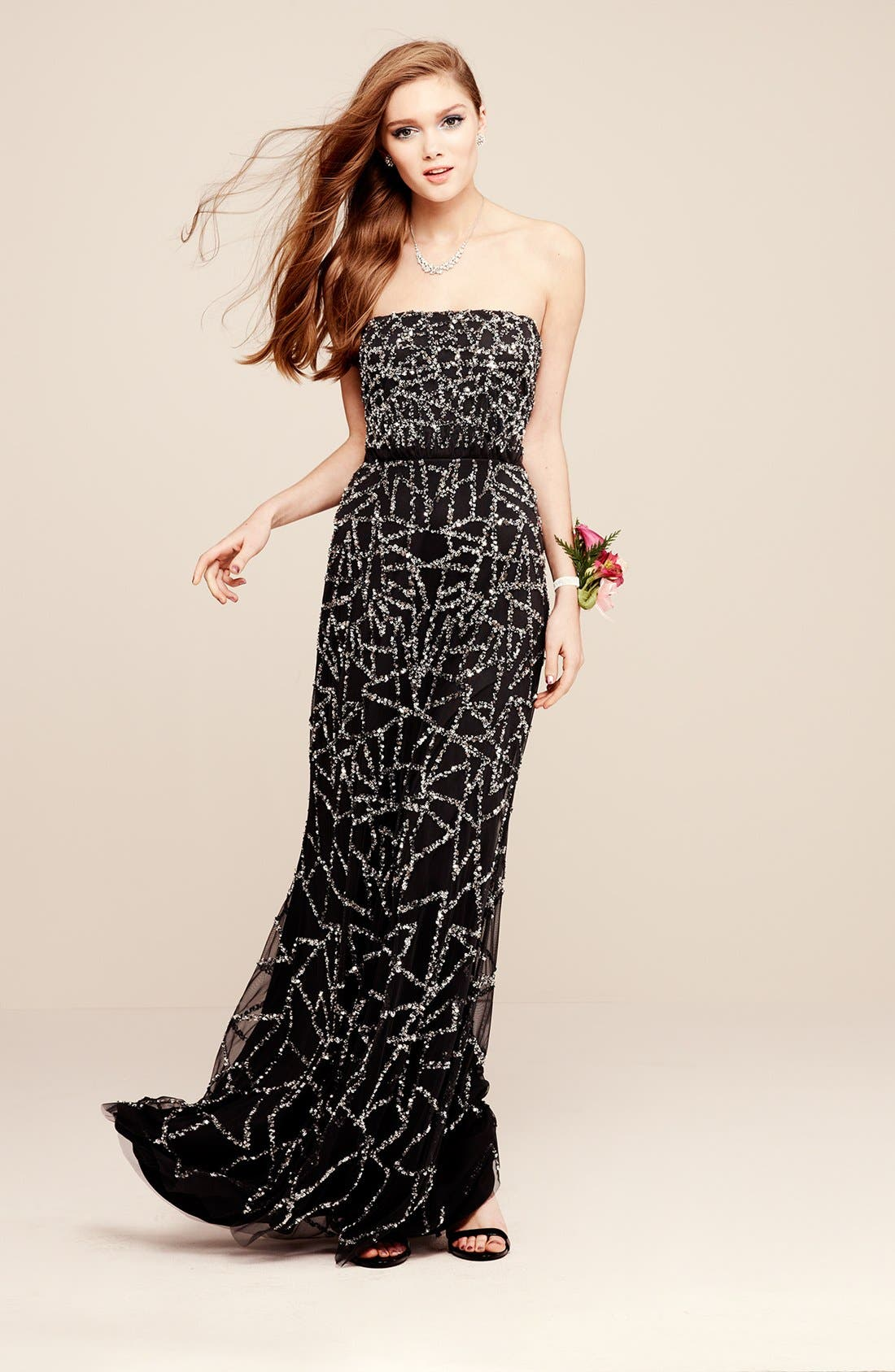 Alternate Image 4  - Adrianna Papell Embellished Strapless Blouson Gown