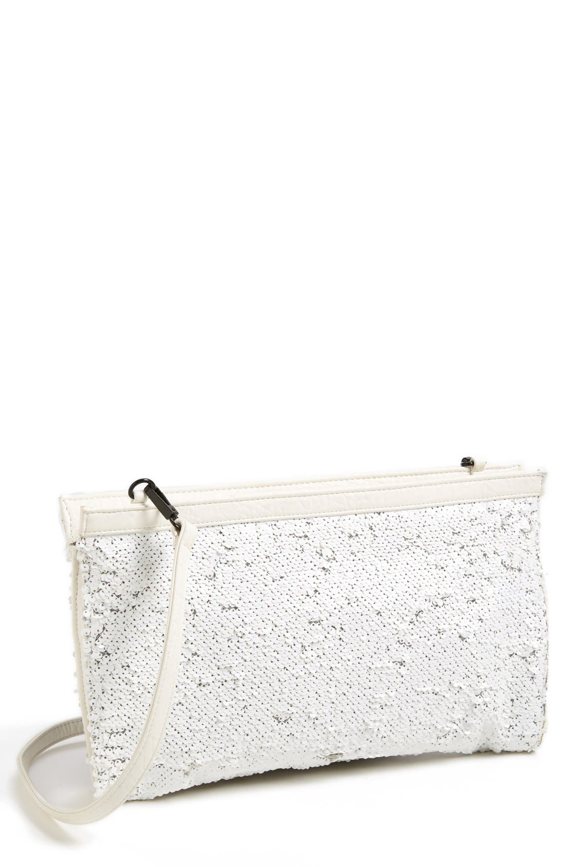 Main Image - French Connection Sequin Convertible Clutch