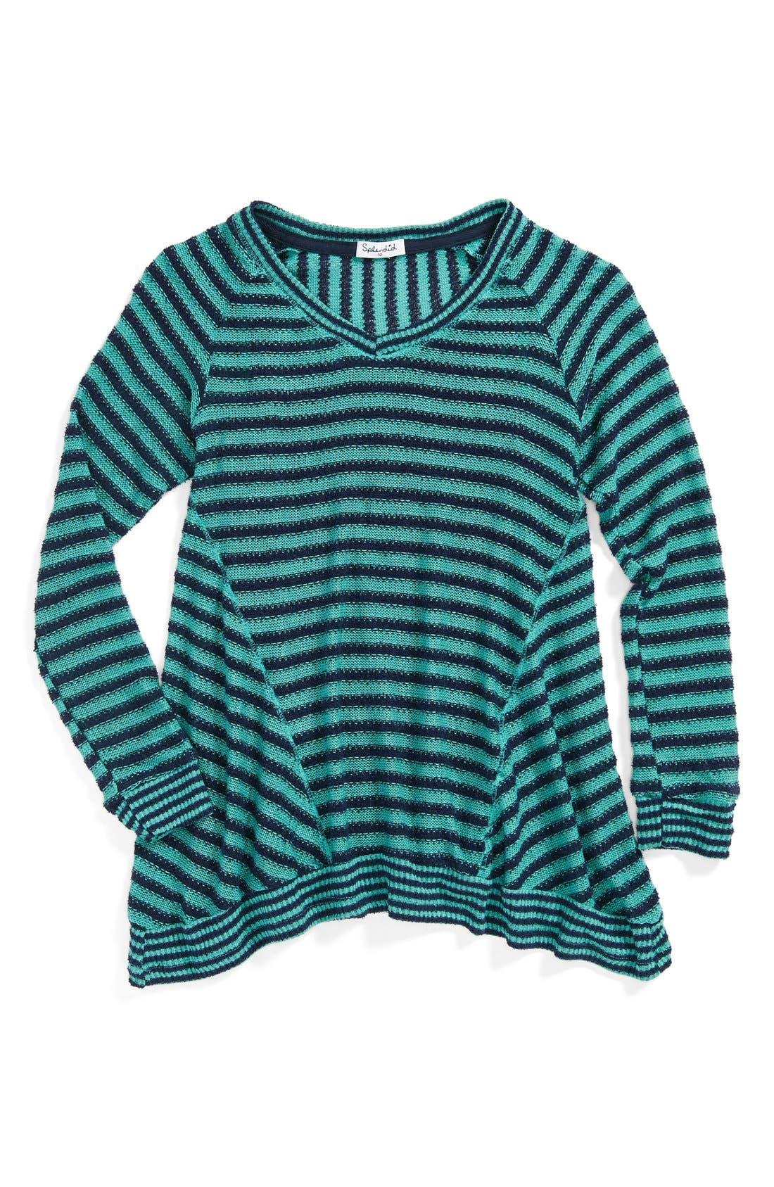 Alternate Image 1 Selected - Splendid Stripe Sweater (Big Girls)