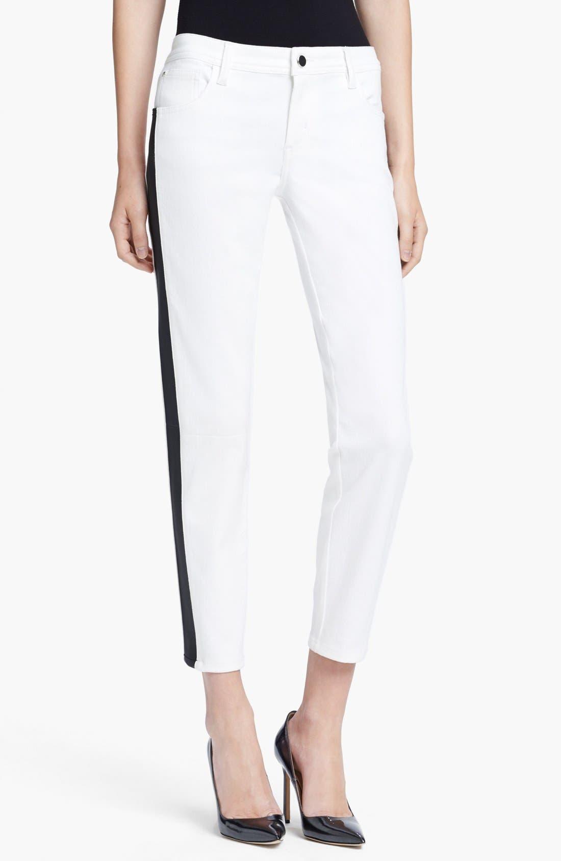 Main Image - Faith Connexion Tuxedo Stripe Ankle Jeans