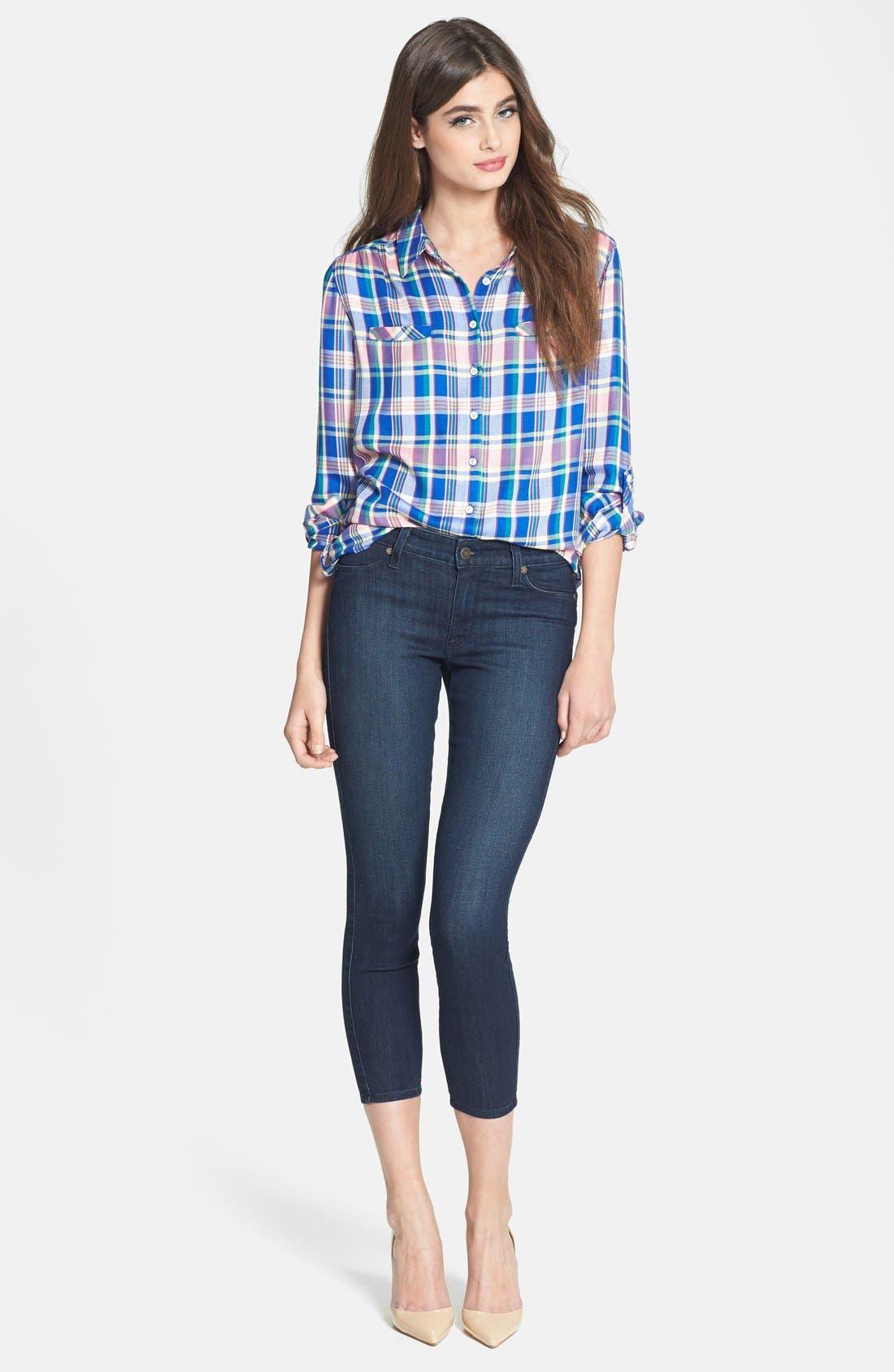 Alternate Image 4  - C & C California Welt Pocket Plaid Tunic Shirt