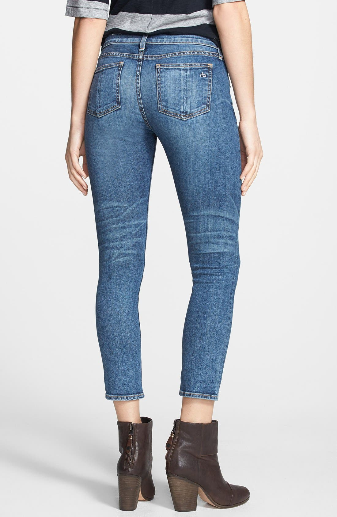 Alternate Image 2  - rag & bone/JEAN Crop Skinny Jeans (Sonoma)