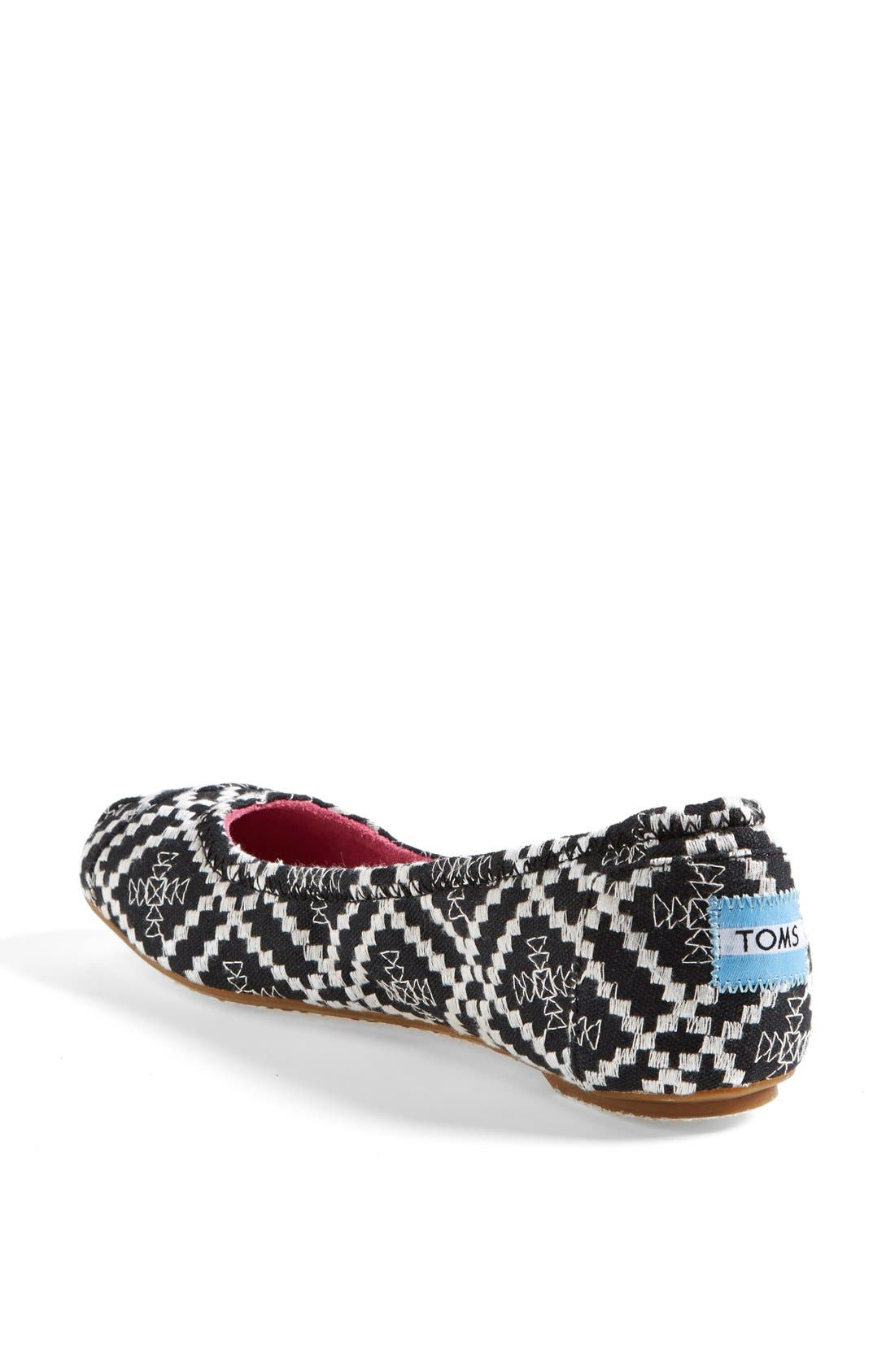 Alternate Image 2  - TOMS Embroidered Ballet Flat (Women)